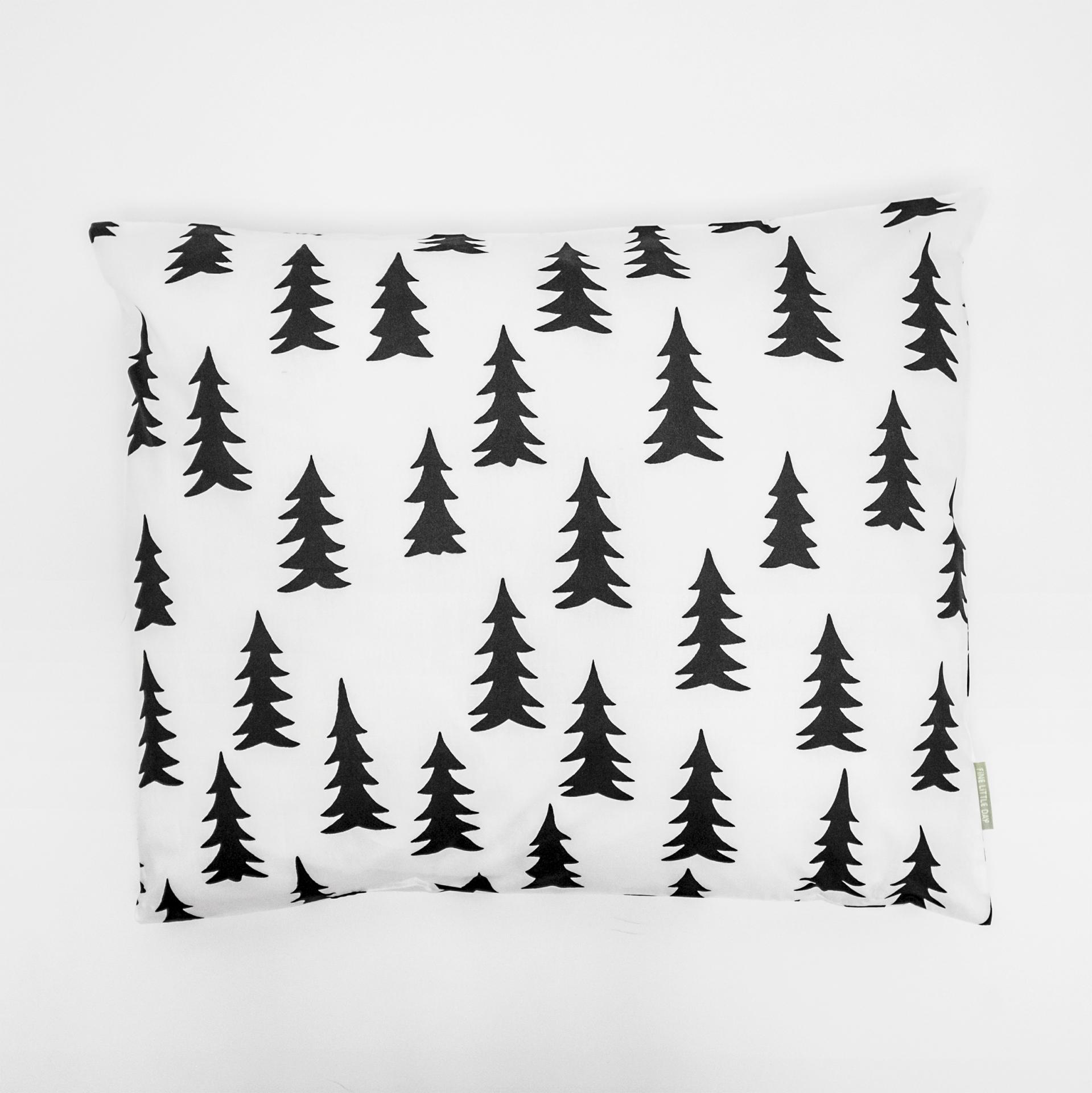 Fine Little Day Povlak na polštář Gran Black 50x60 cm, černá barva, bílá barva, textil