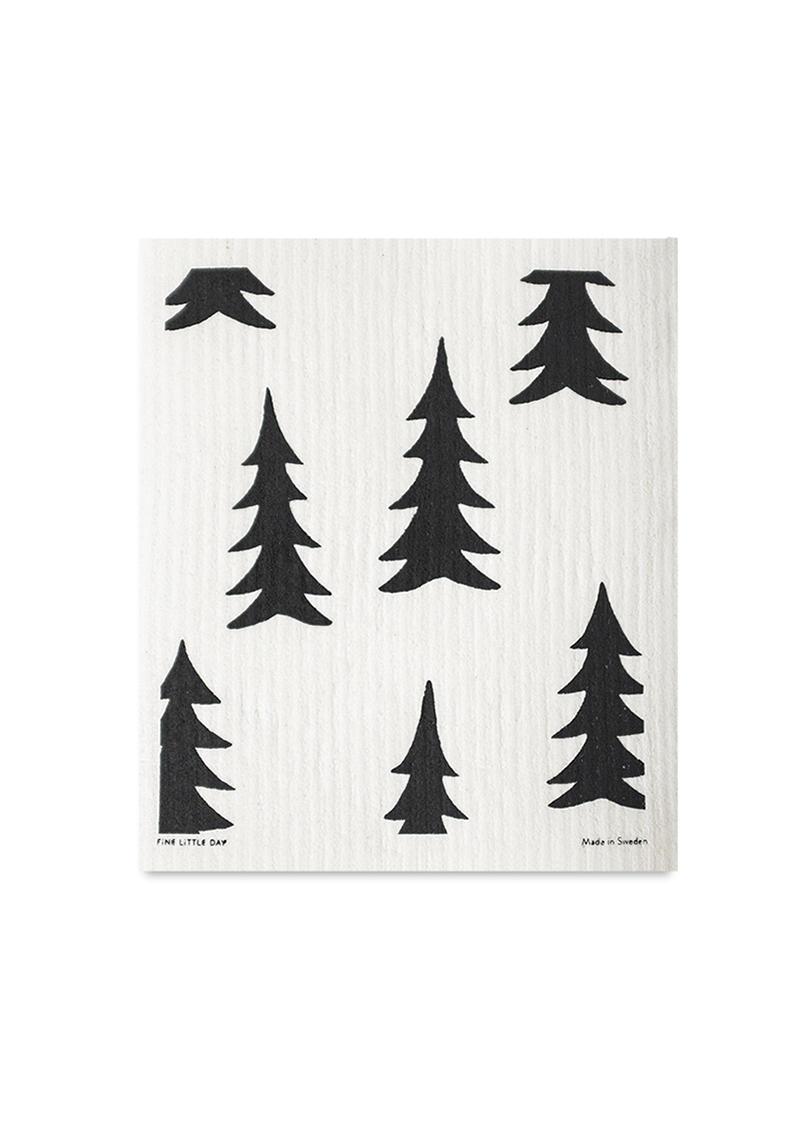 Fine Little Day Hadřík na nádobí Gran/Barr - set 2 ks, černá barva, bílá barva, textil