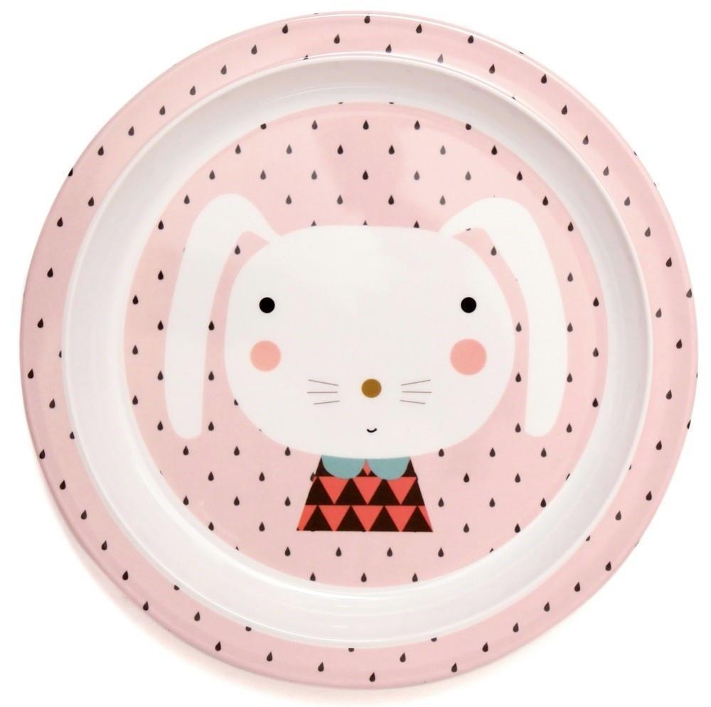 Petit Monkey Melaminový talíř Rabbit