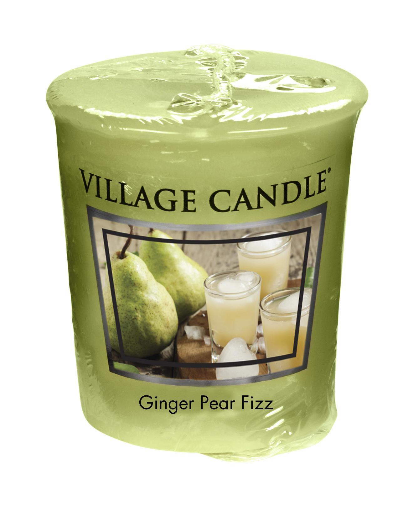 VILLAGE CANDLE Votivní svíčka Village Candle - Ginger Pear Fizz, zelená barva, vosk