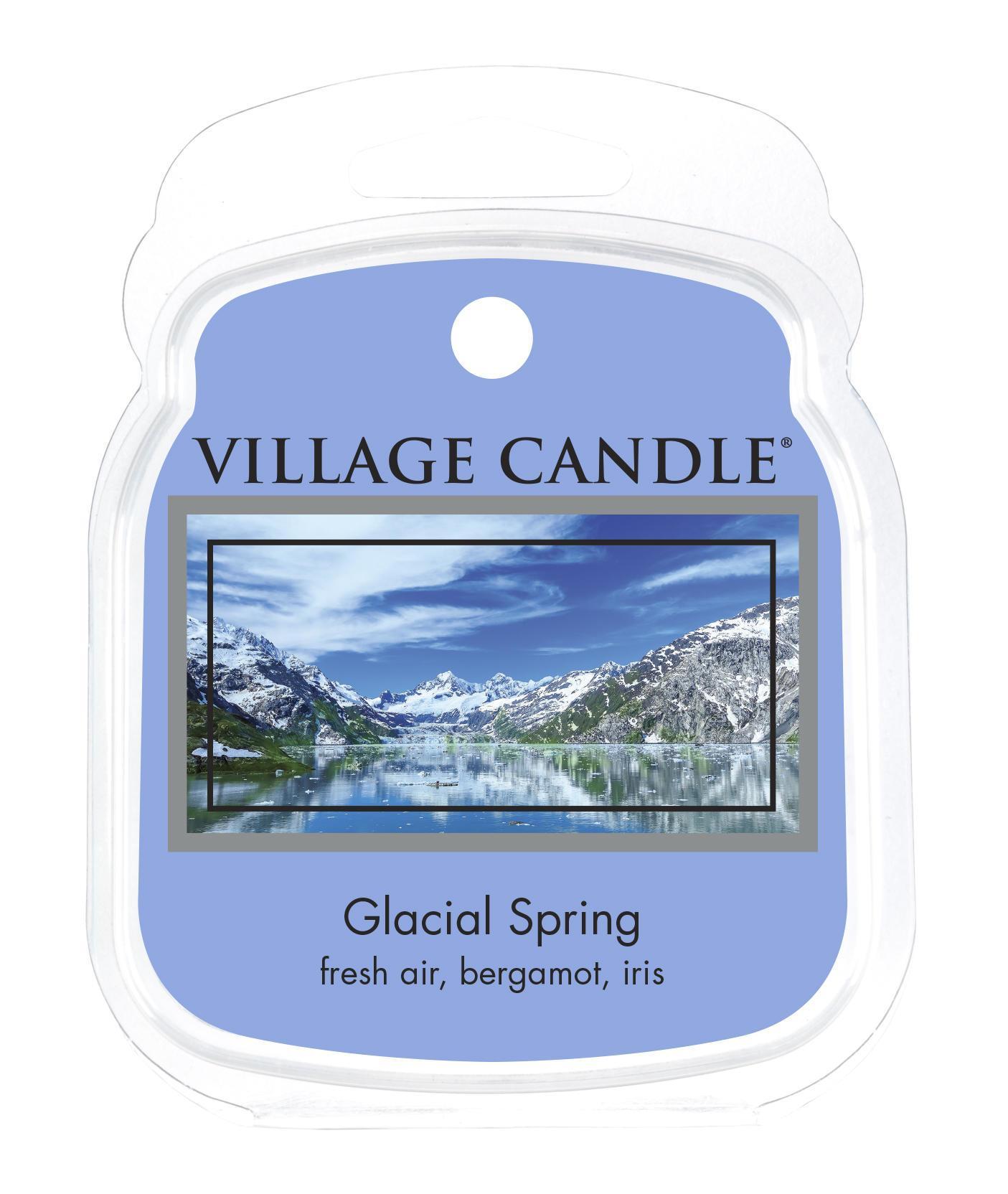 VILLAGE CANDLE Vosk do aromalampy Glacial Spring, modrá barva, vosk