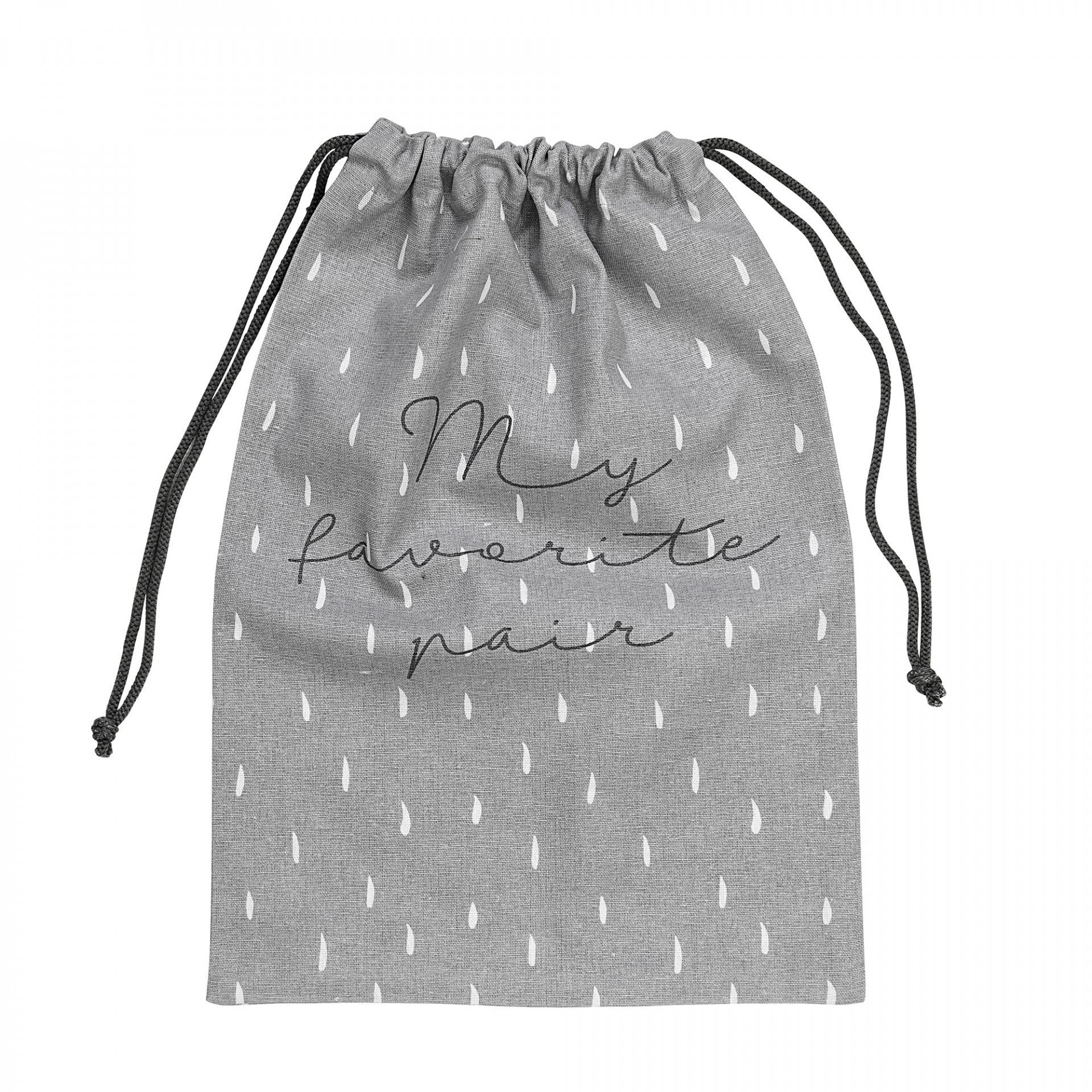 Bloomingville Pytlík na boty Favorite pair, šedá barva, textil