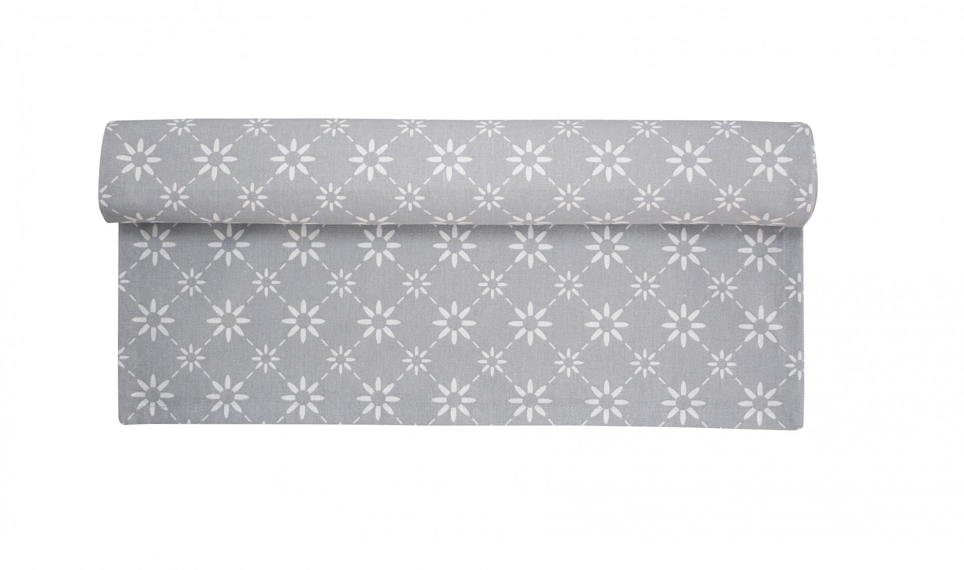 Krasilnikoff Bavlněný běhoun Grey diagonal, šedá barva, textil