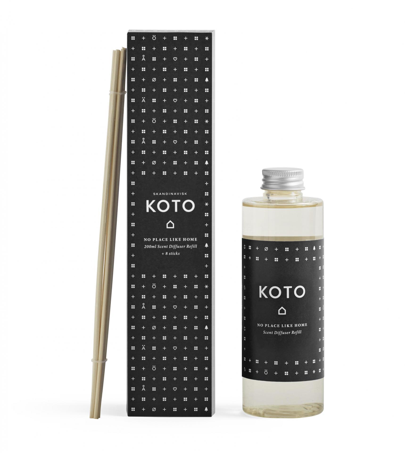 SKANDINAVISK Náhradní náplň do difuzéru KOTO (domov) 200 ml, černá barva, plast