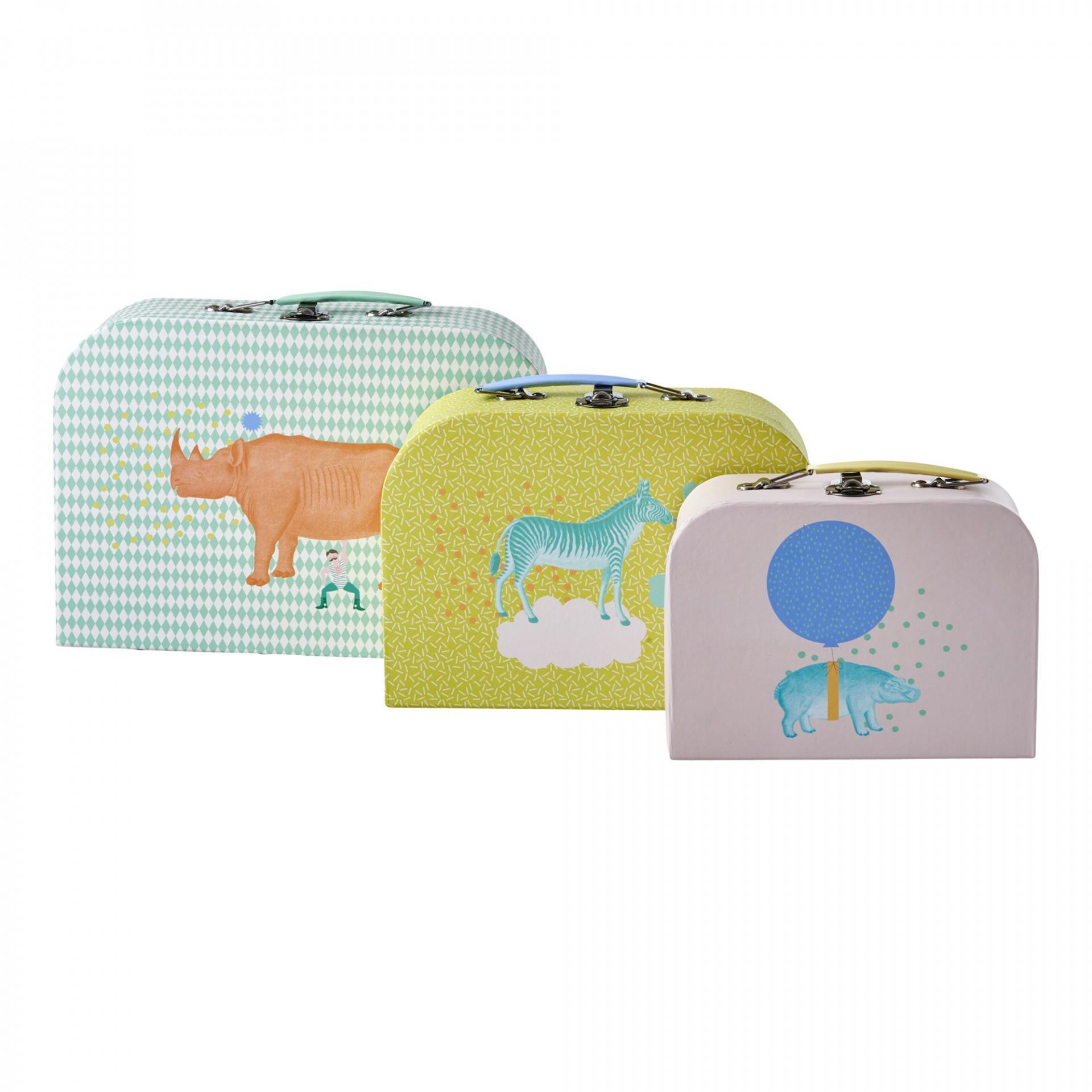 rice Kufřík Animals - 3 velikosti Růžový S, multi barva, papír