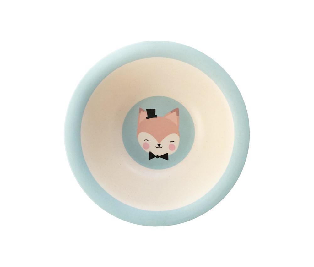 EEF lillemor Bambusová miska - Lovely Animals, modrá barva
