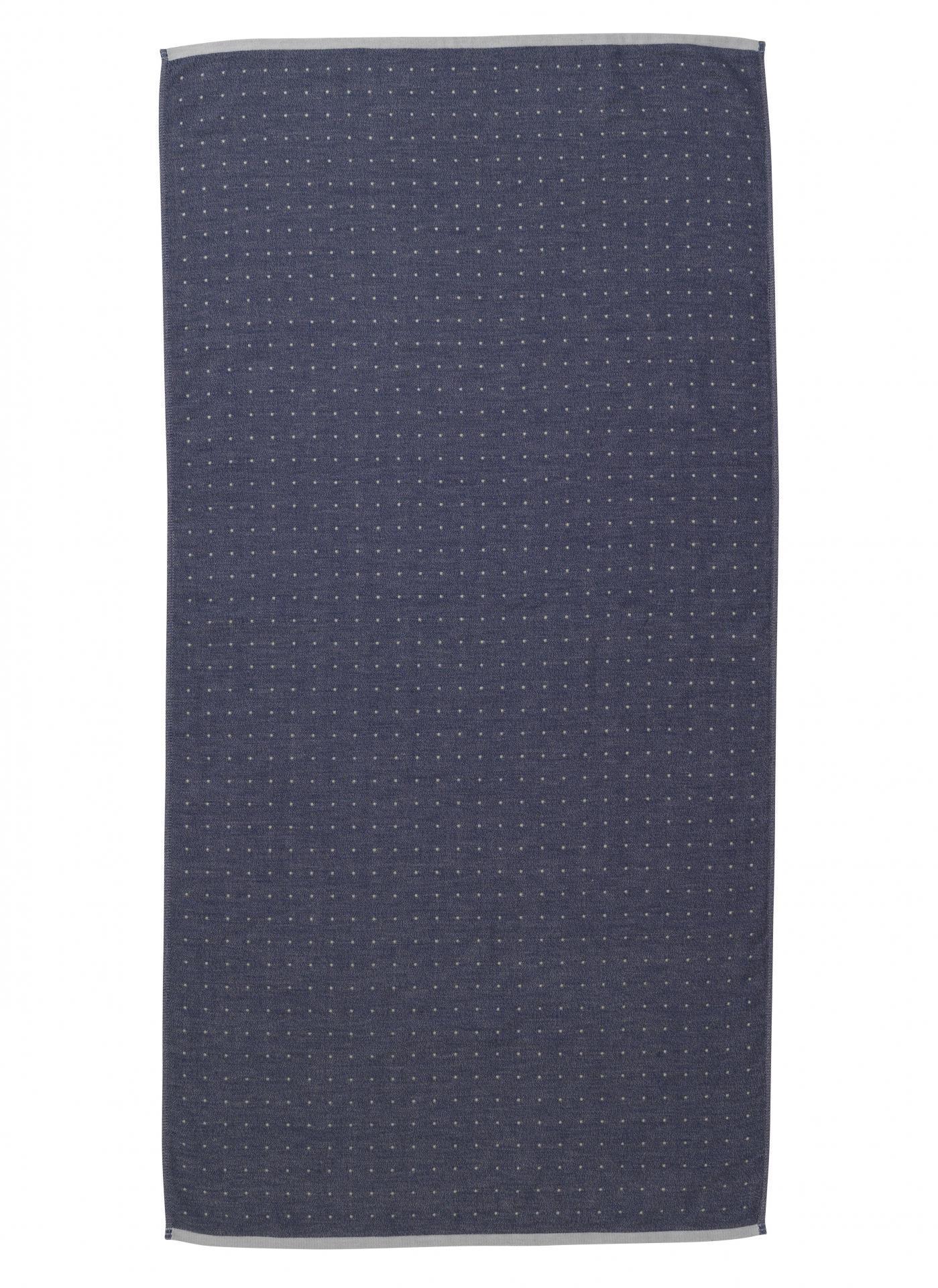 ferm LIVING Osuška Sento Blue 70x140 cm, modrá barva, textil