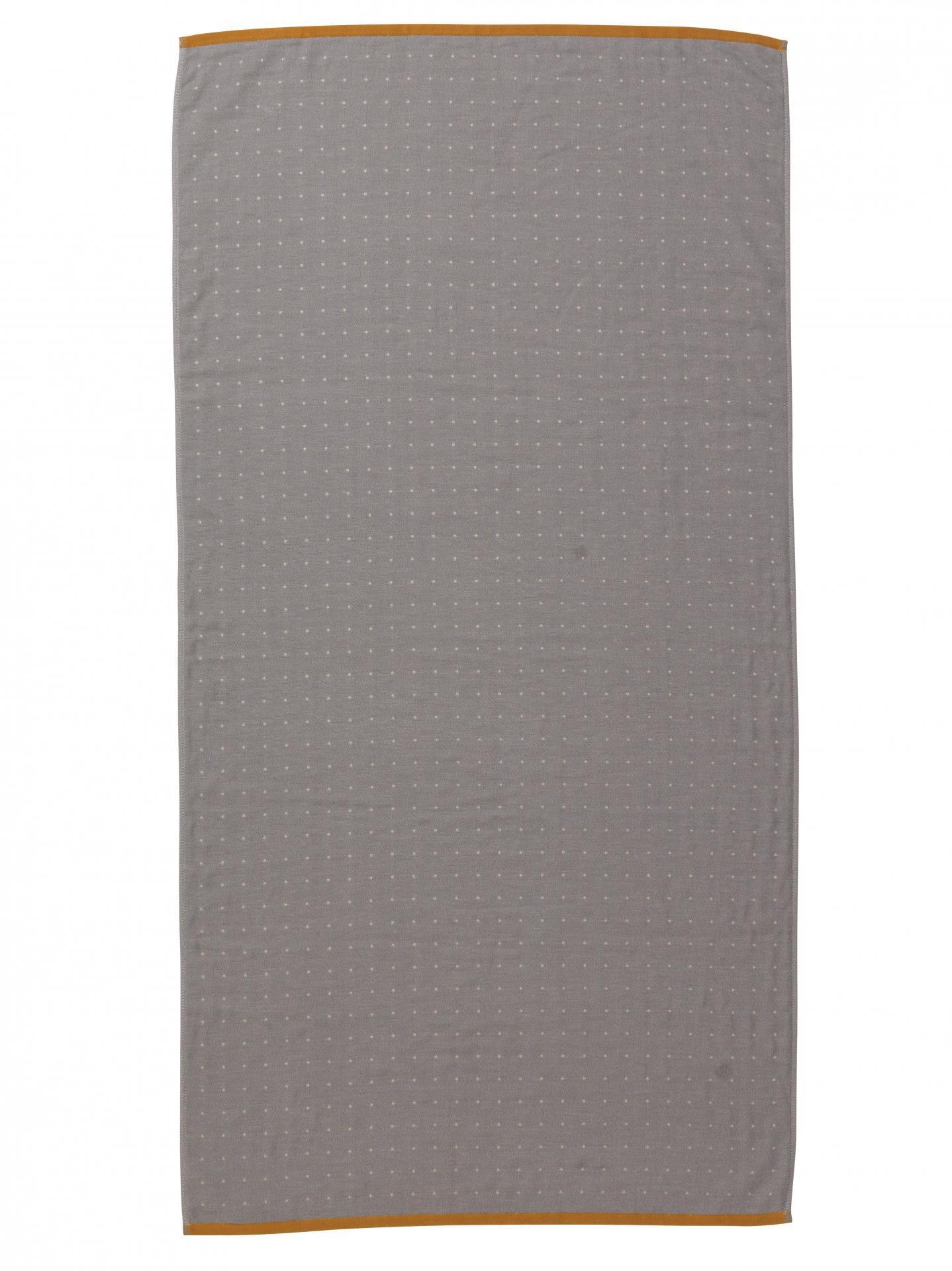 ferm LIVING Osuška Sento Grey 70x140 cm, šedá barva, textil