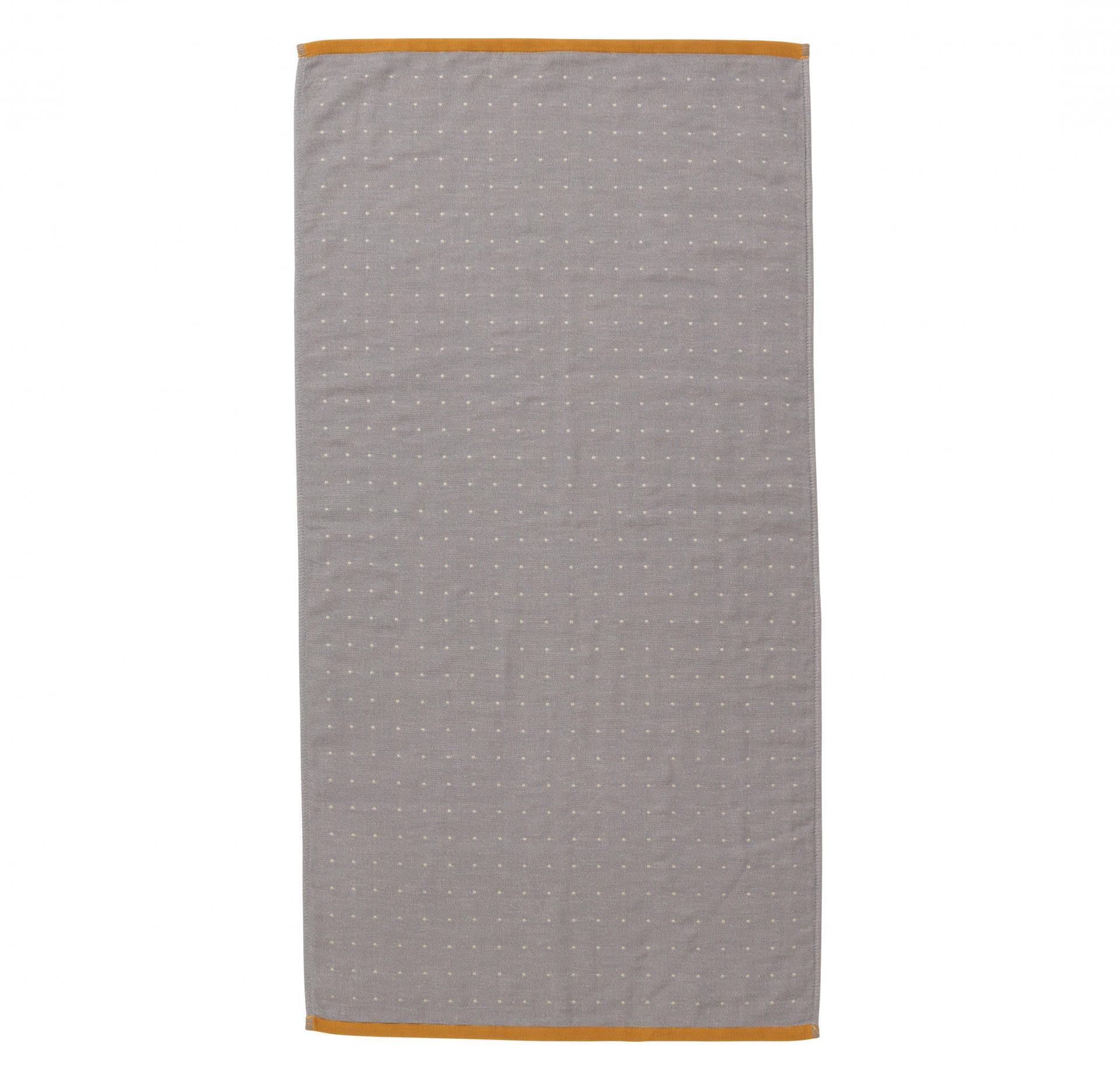 ferm LIVING Ručník Sento Grey 50x100 cm, šedá barva, textil