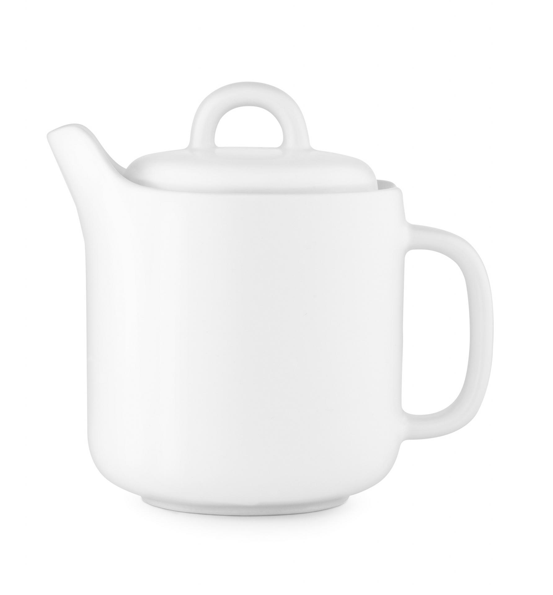 normann COPENHAGEN Porcelánová čajová konvice Bliss White, bílá barva, porcelán