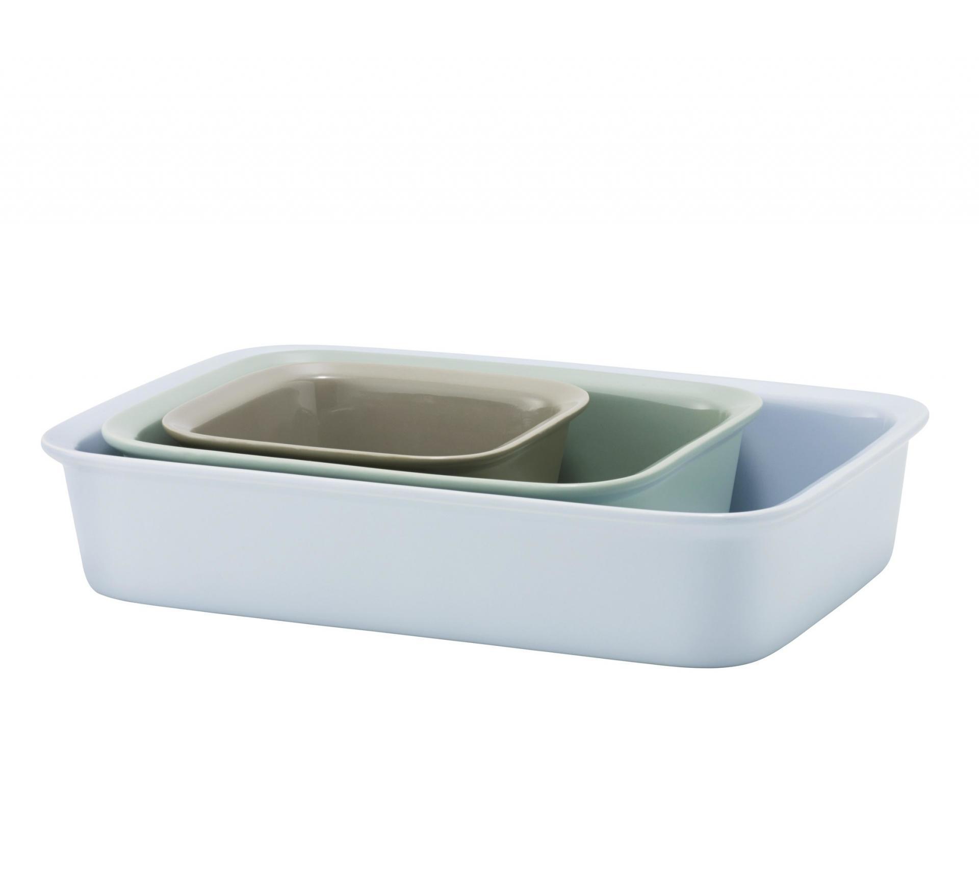RIG-TIG Zapékací/servírovací mísa Cook&Serve Velikost L (modrá), modrá barva, zelená barva, keramika