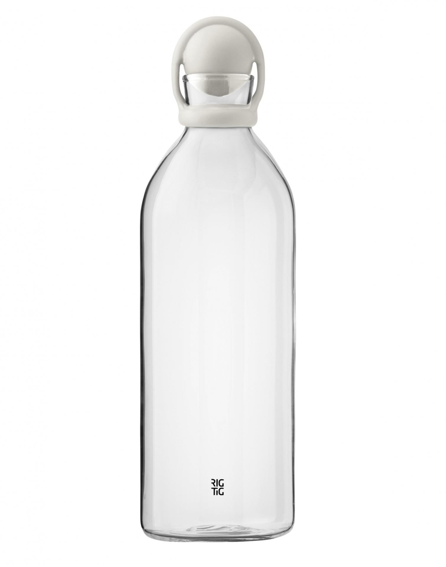 RIG-TIG Skleněná karafa Cool-it Grey, šedá barva, čirá barva, sklo, plast