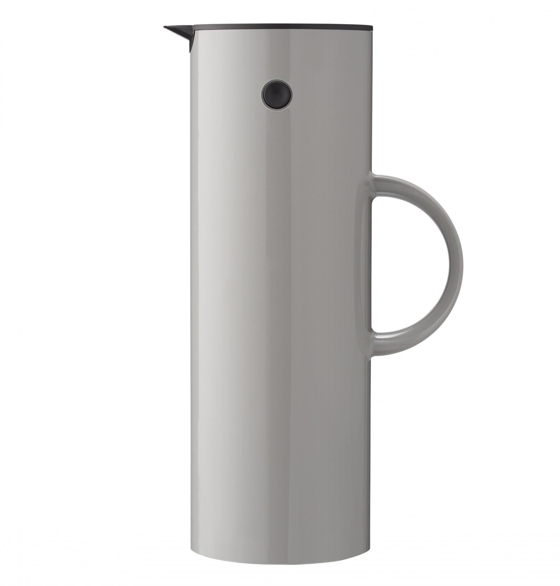 Stelton Termokonvice EM77 Light grey 1 l, šedá barva, sklo, plast