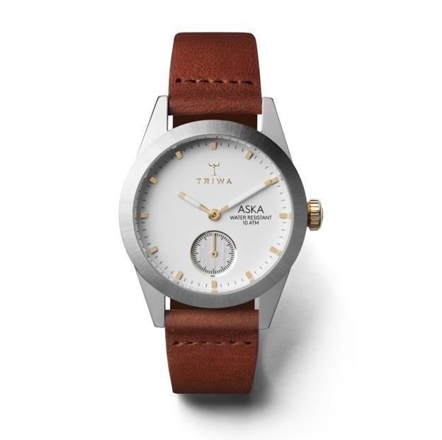TRIWA Dámské hodinky Triwa - Snow Aska - Brown Classic, hnědá barva, stříbrná barva, sklo, kov, kůže
