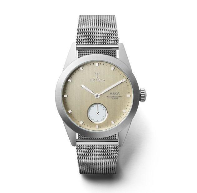 TRIWA Dámské hodinky Triwa - Birch Aska - Silver Mesh Super slim, stříbrná barva, sklo, kov
