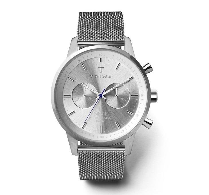 TRIWA Unisex hodinky Triwa - Stirling Nevil 2.0 - Steel Mesh, stříbrná barva, sklo, kov