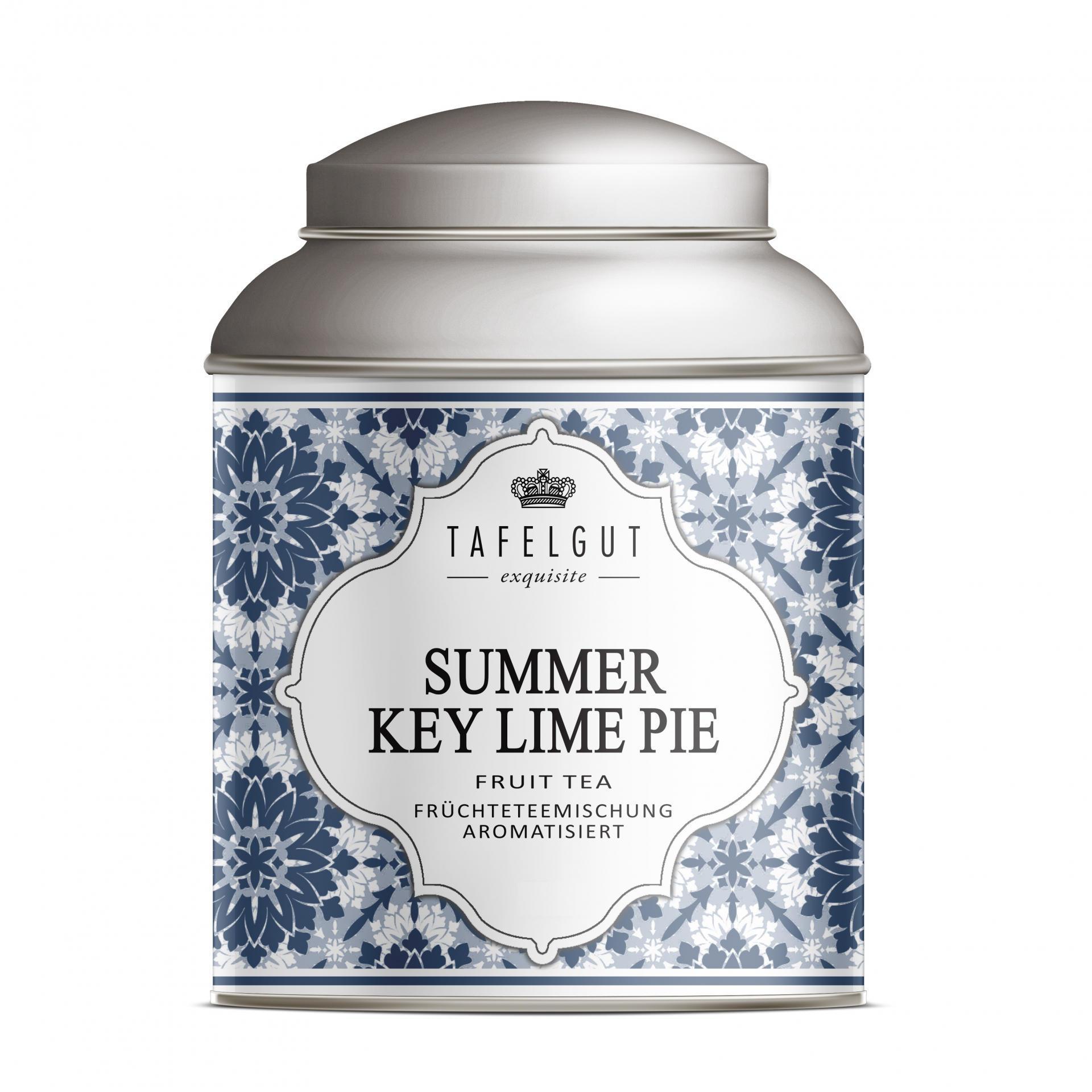TAFELGUT Mini ovocný čaj Summer Key Lime Pie - 25gr, modrá barva, bílá barva, kov