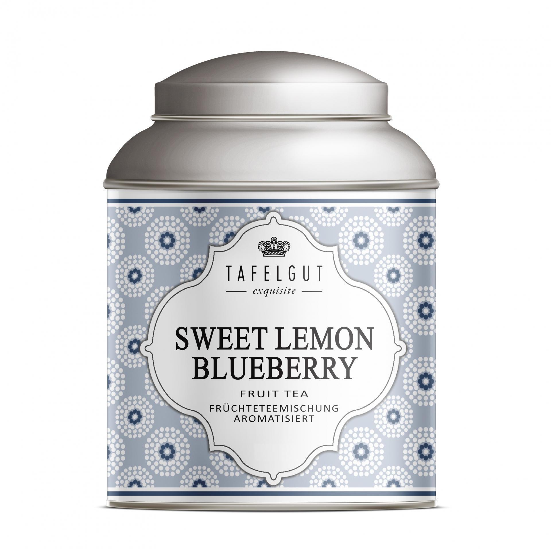 TAFELGUT Mini ovocný čaj Sweet Lemon Blueberry - 40gr, modrá barva, kov