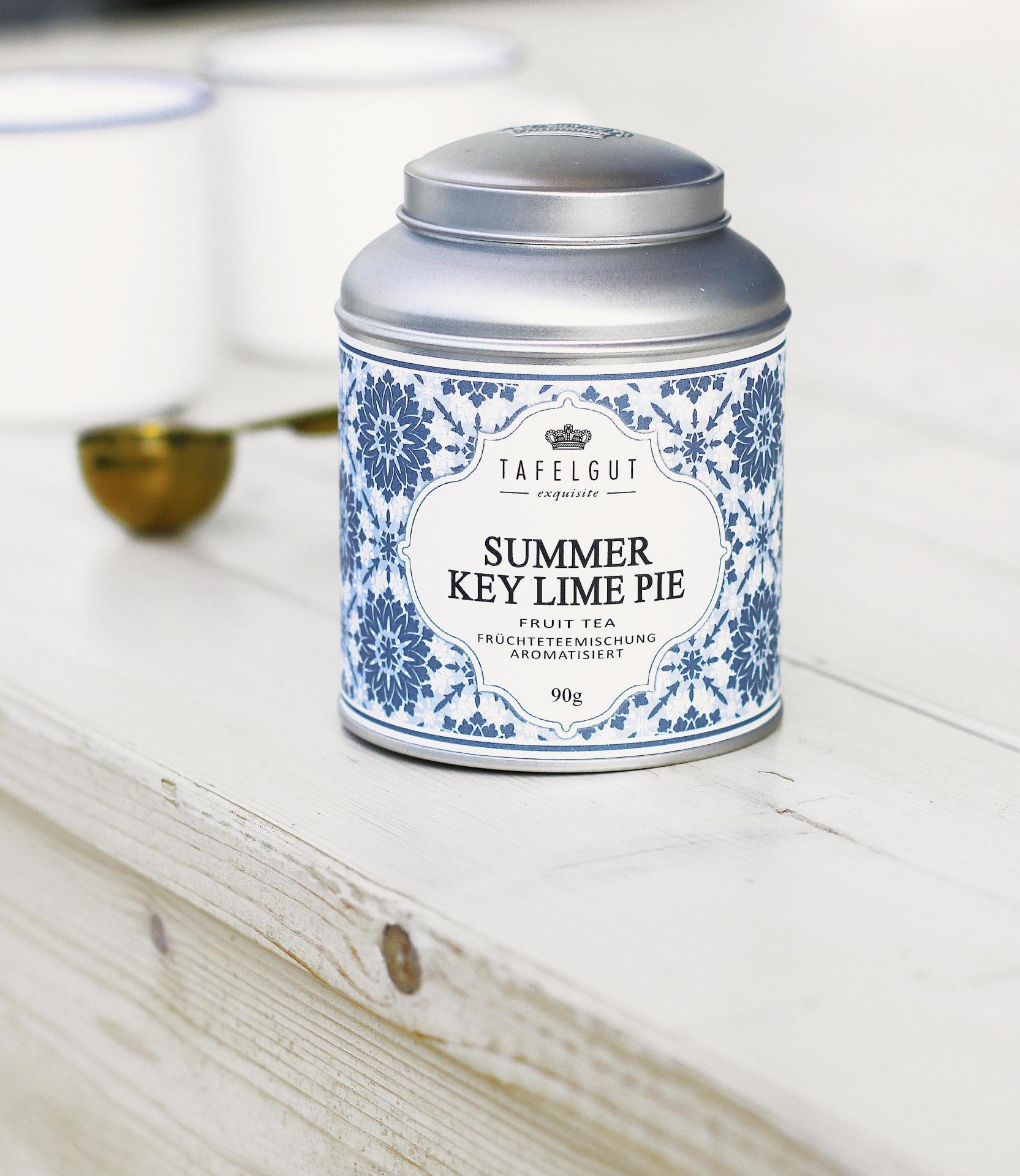 TAFELGUT Sypaný ovocný čaj Summer Key Lime Pie - 90gr, modrá barva, kov