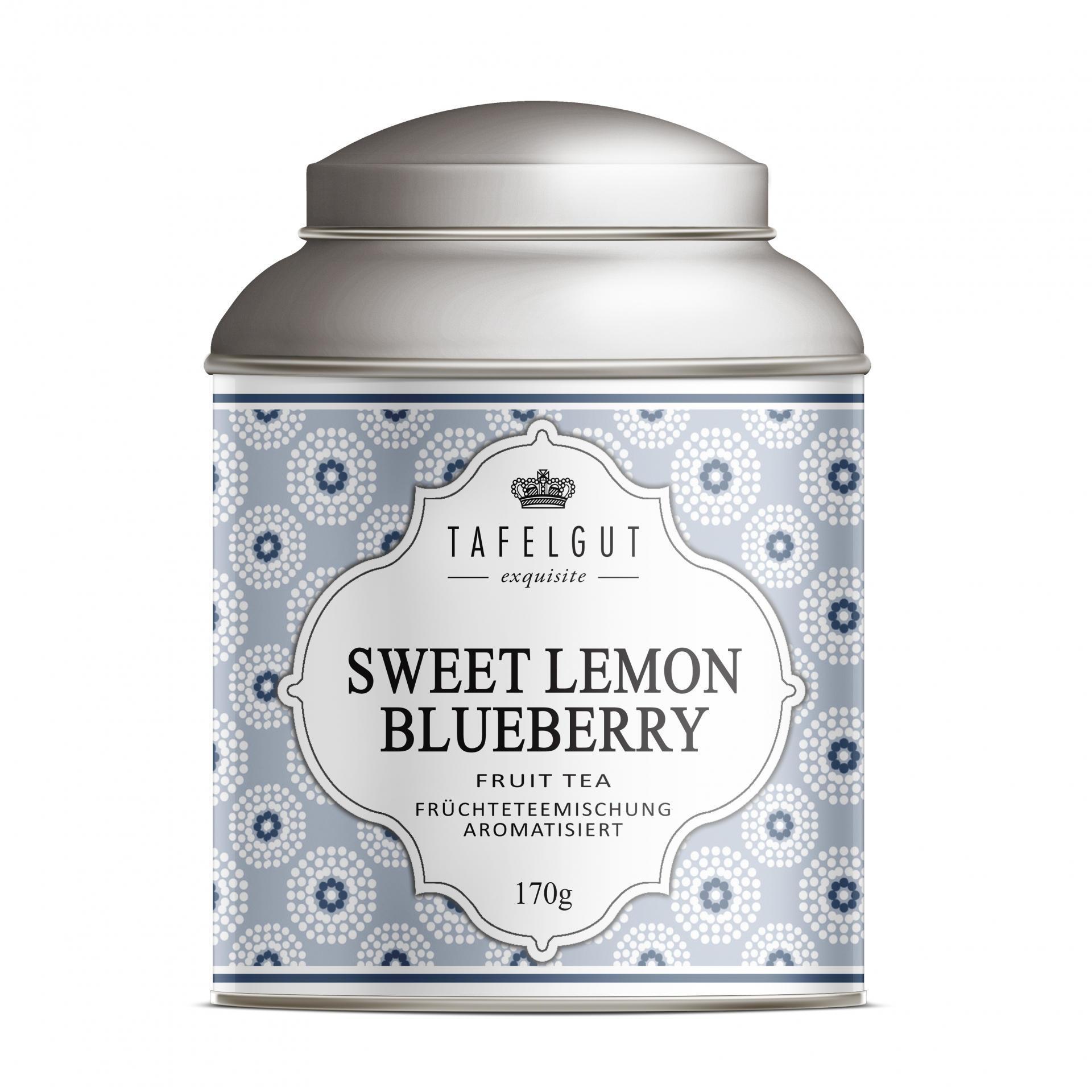 TAFELGUT Ovocný čaj Sweet Lemon Blueberry - 170gr, modrá barva, kov