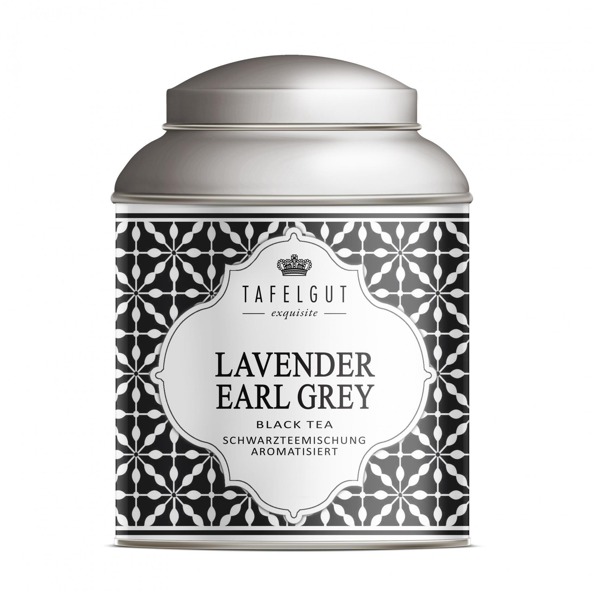 TAFELGUT Mini černý čaj Lavender Earl Grey - 25gr, černá barva, bílá barva, kov