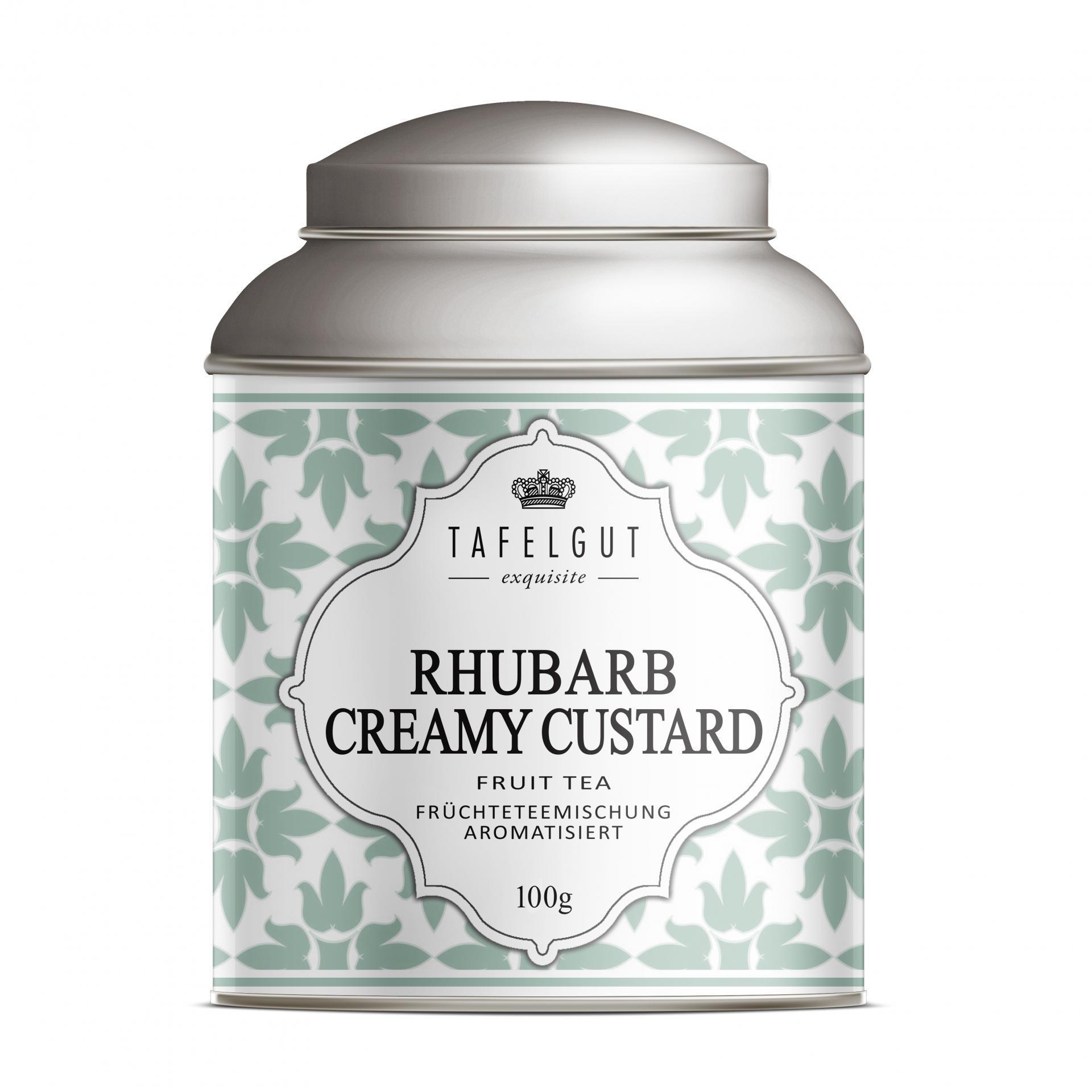 TAFELGUT Ovocný čaj Rhubarb Creamy Custard - 100gr, zelená barva, kov
