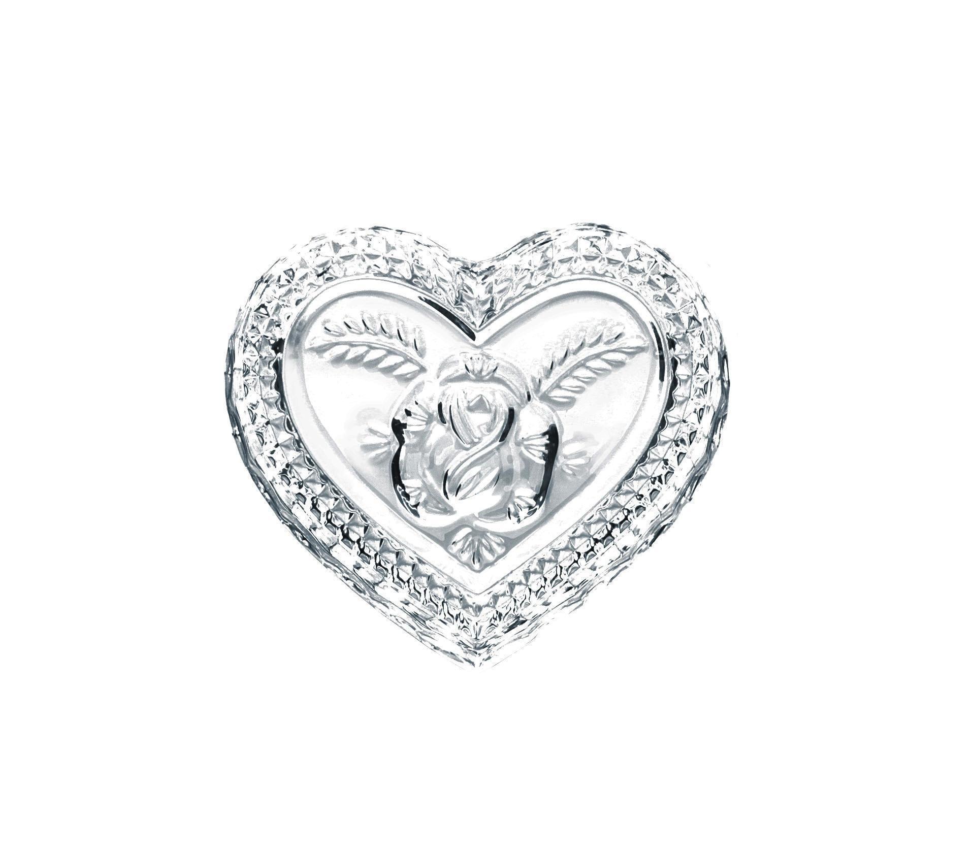 Crystal BOHEMIA Křišťálová dóza Rose Heart