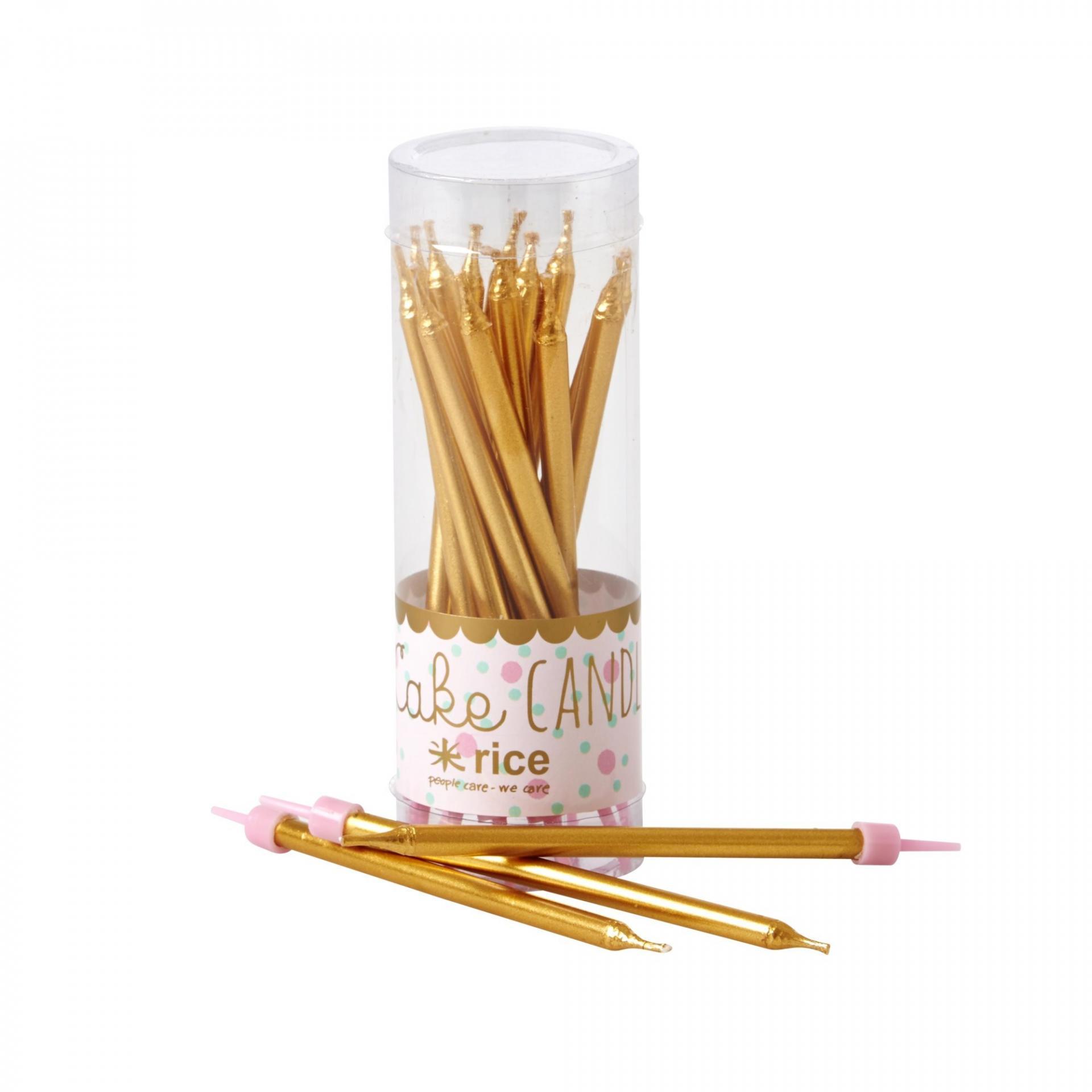Rice Dortové svíčky Gold - 16 ks