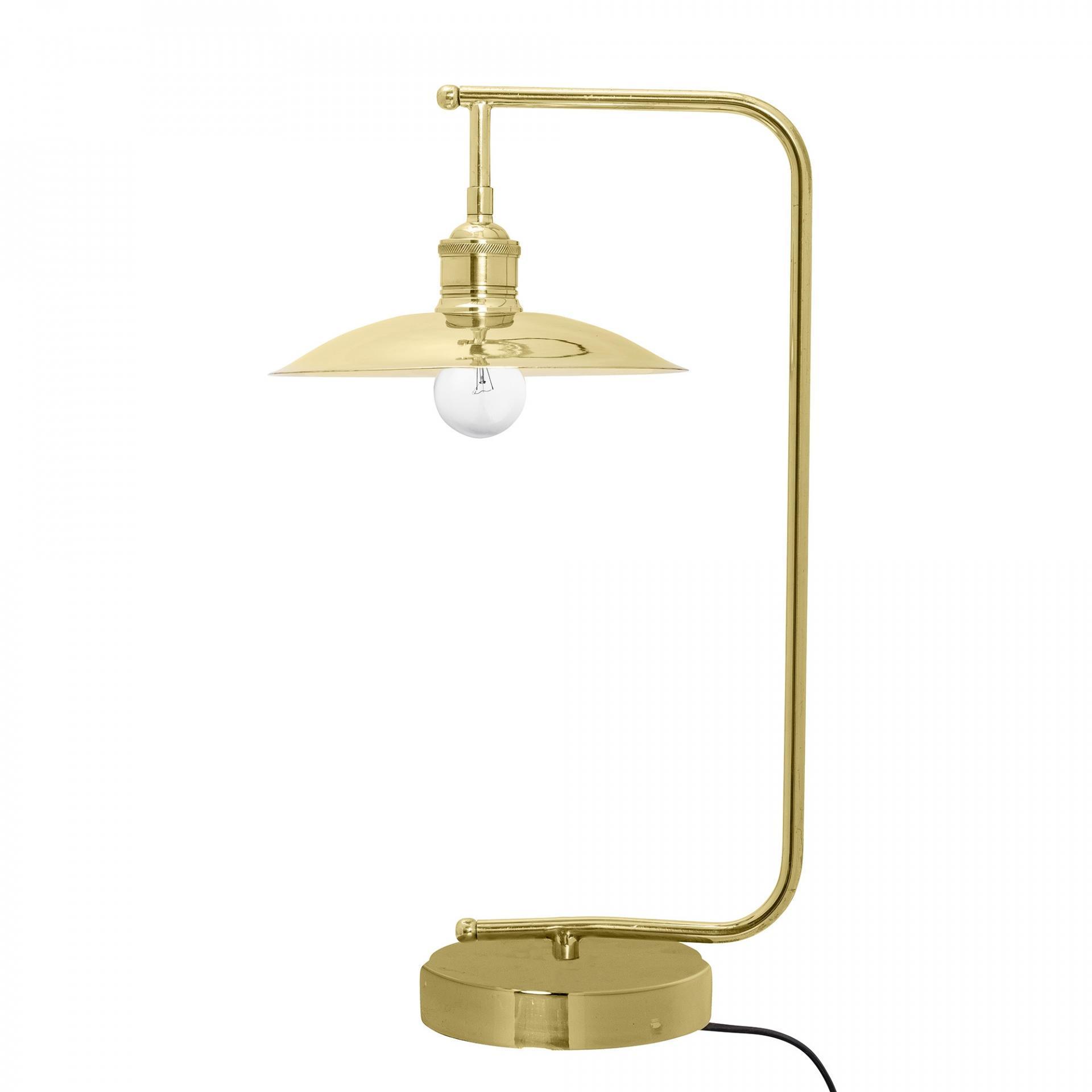 Bloomingville Stolní lampa Industrial Brass, zlatá barva, kov