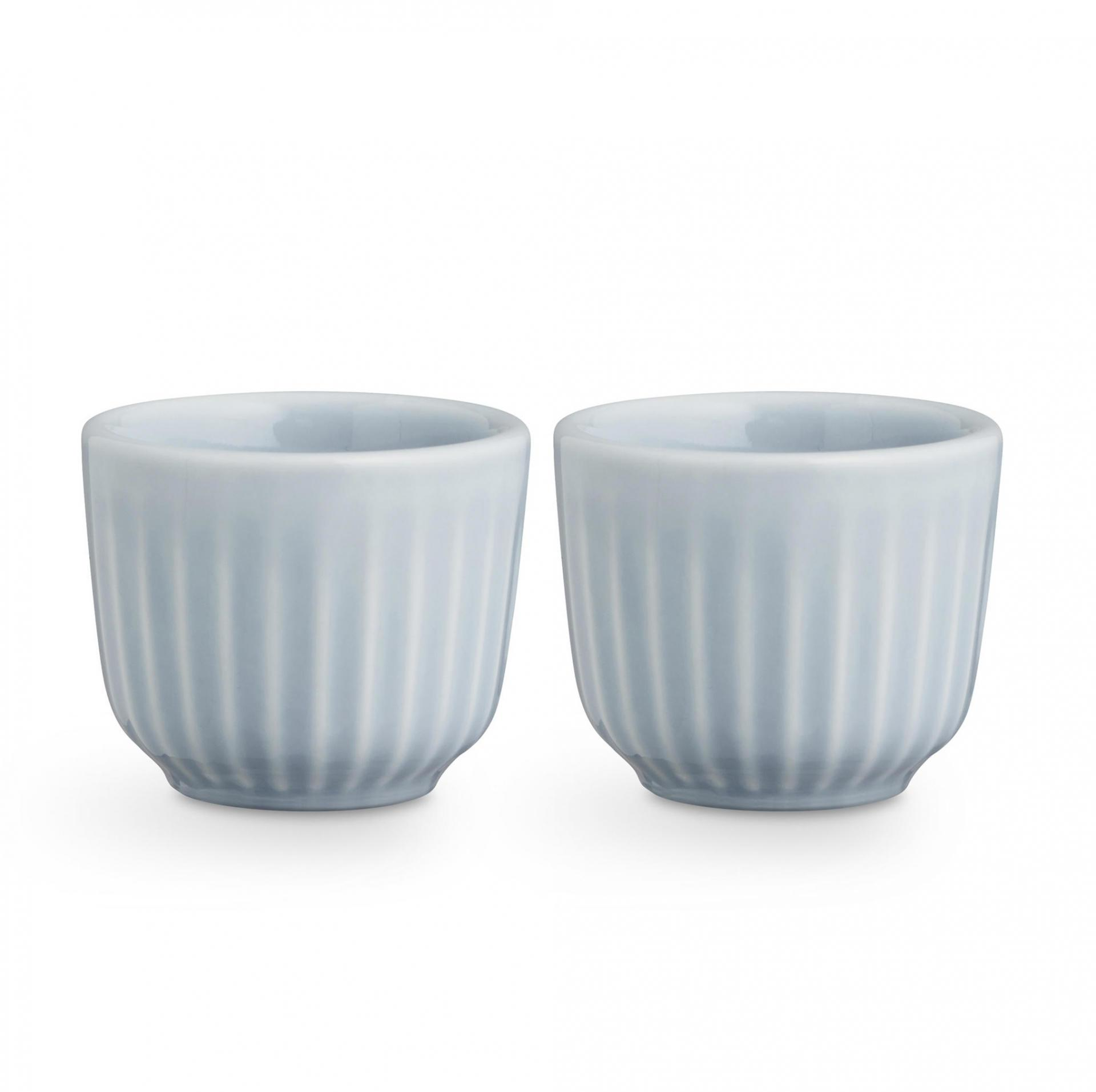 KÄHLER Stojánek na vajíčko Hammershøi Sky - set 2 ks, modrá barva, keramika