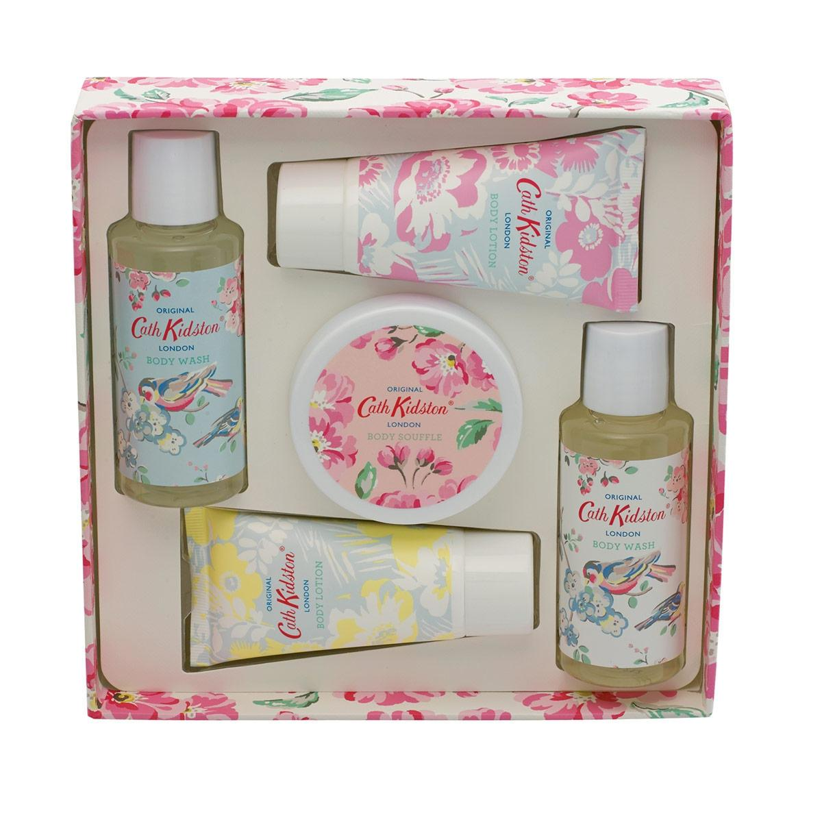 Cath Kidston Dárková sada kosmetiky Blossom Birds, růžová barva, modrá barva, plast, papír