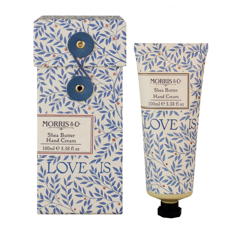 MORRIS & Co. Krém na ruce Love Is Enough 100 ml, modrá barva, krémová barva, plast, papír