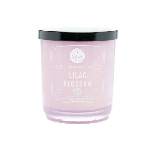 dw HOME Vonná svíčka ve skle - Květ šeříku 425gr, fialová barva, sklo