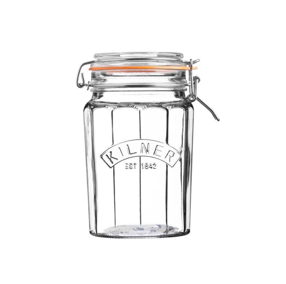 KILNER Kulatá zavařovací sklenice s klipem 950 ml
