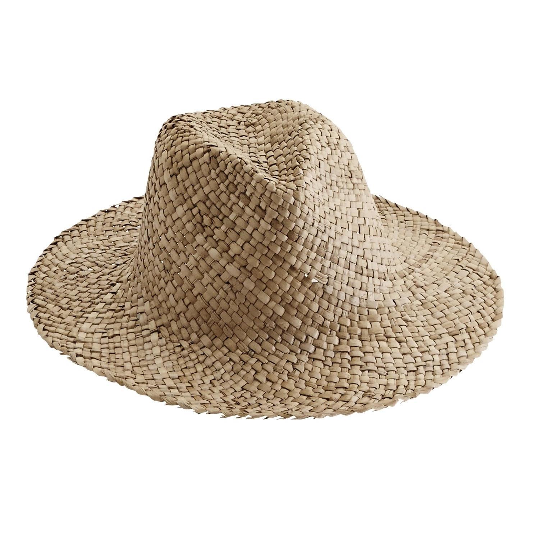 MADAM STOLTZ Slaměný klobouk Natural, přírodní barva, proutí