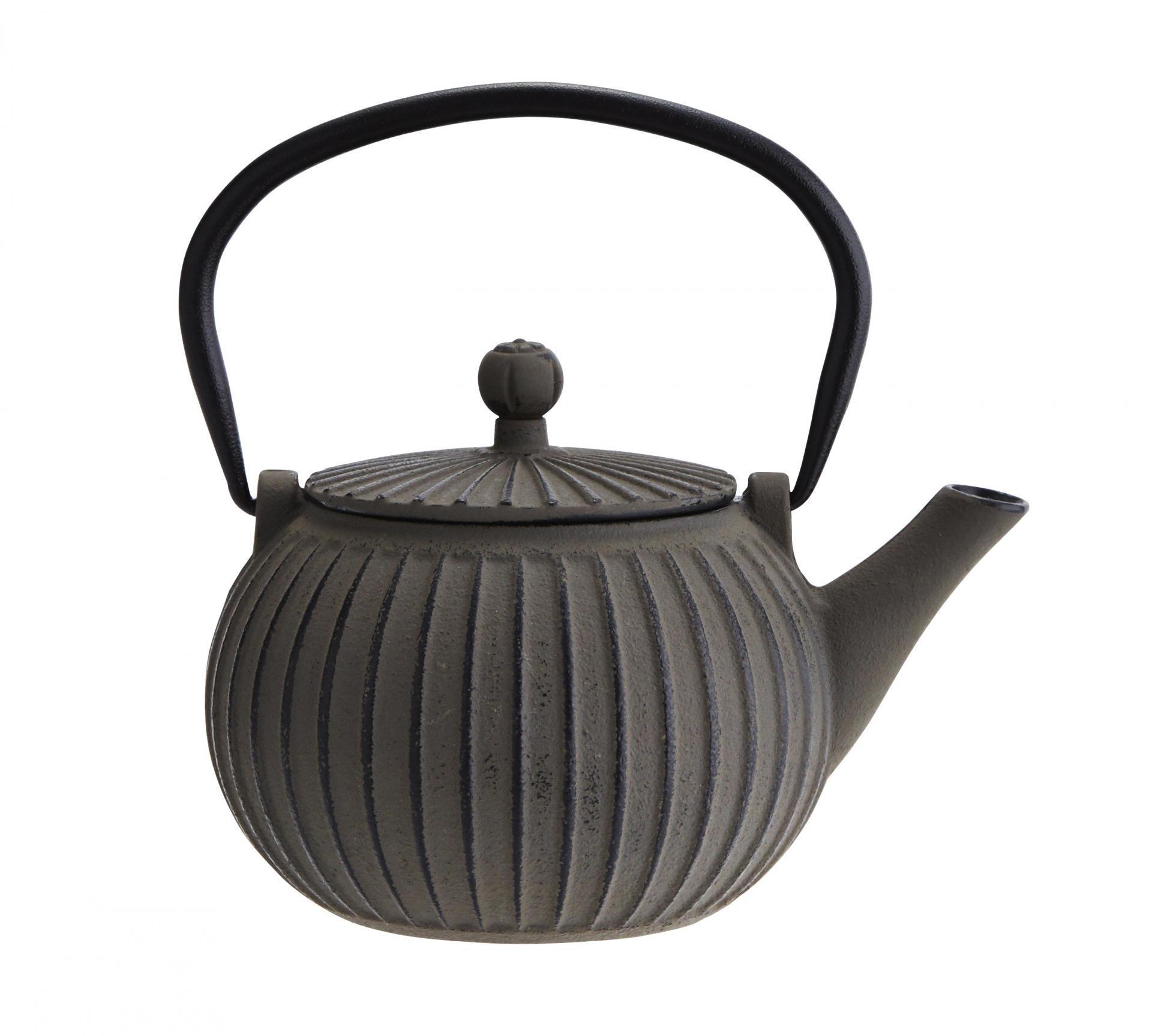 Madam Stoltz Litinová čajová konvička Grey 500 ml