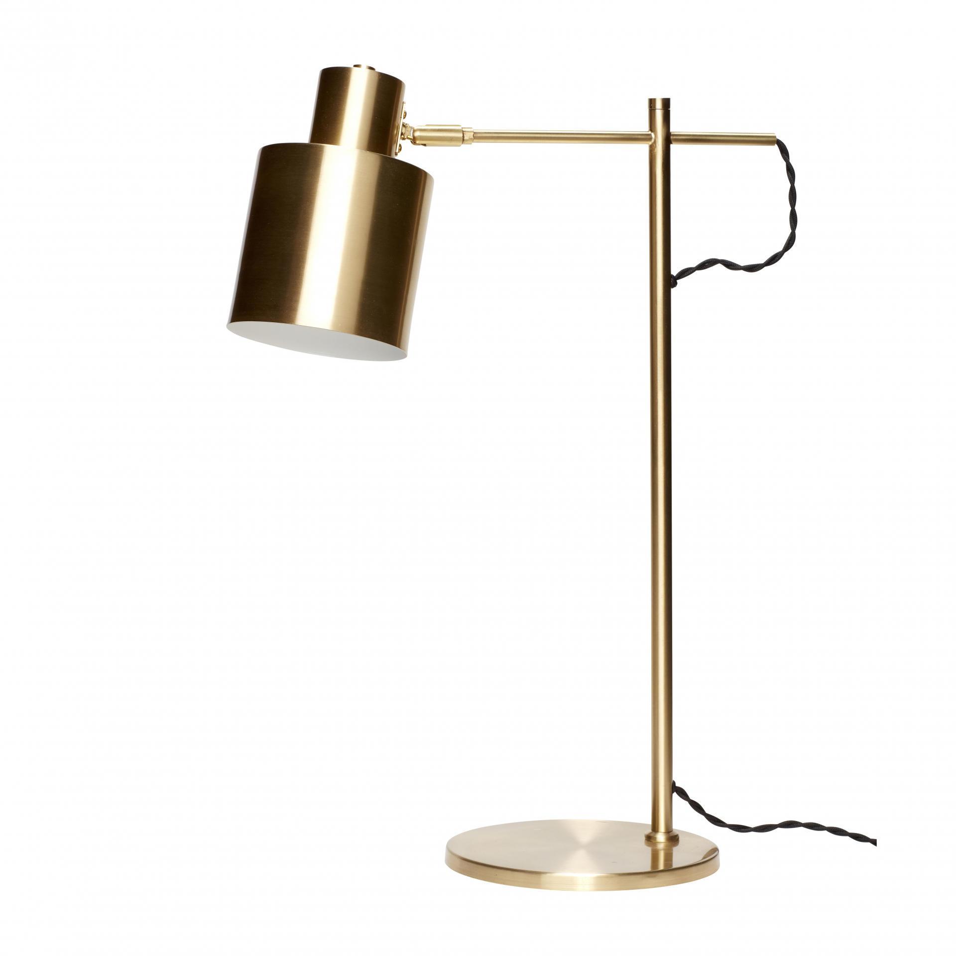 Hübsch Velká stolní lampa Gold brass, zlatá barva, kov