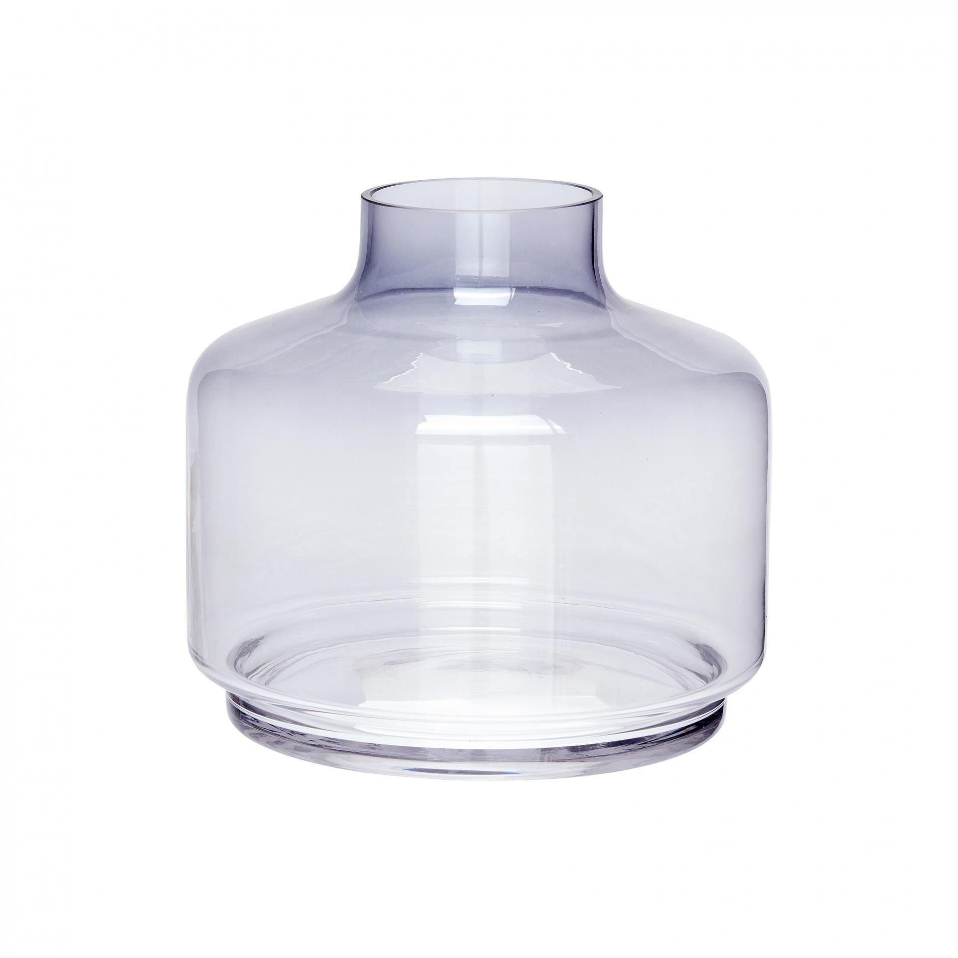 Hübsch Skleněná váza Clear blue