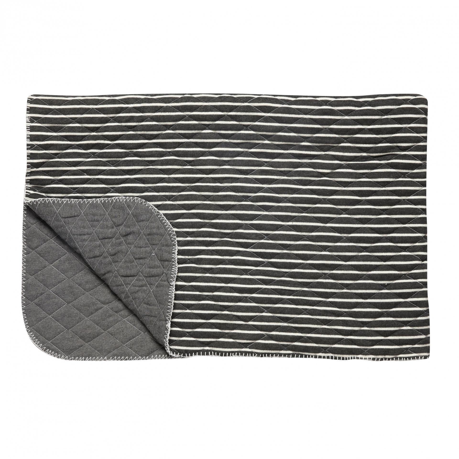 Hübsch Pléd Grey stripes 165x110 cm c2e6575c4e