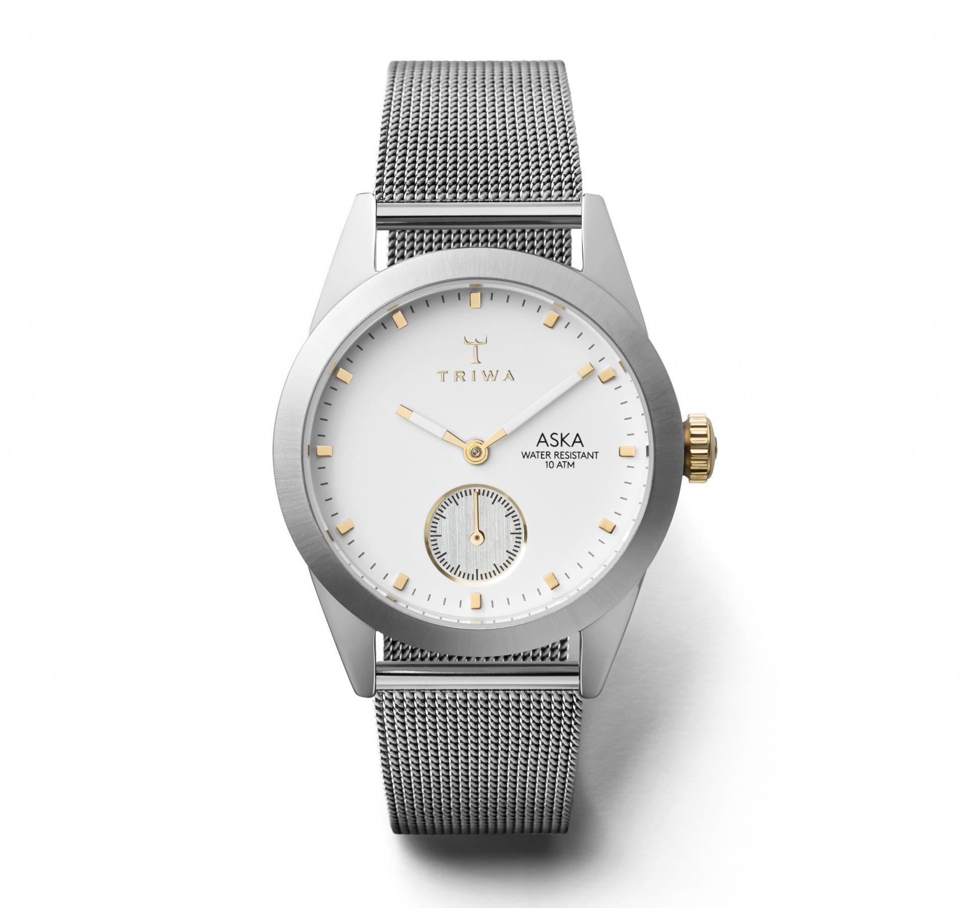 TRIWA Dámské hodinky Triwa - Snow Aska - Silver Mesh, stříbrná barva, sklo, kov