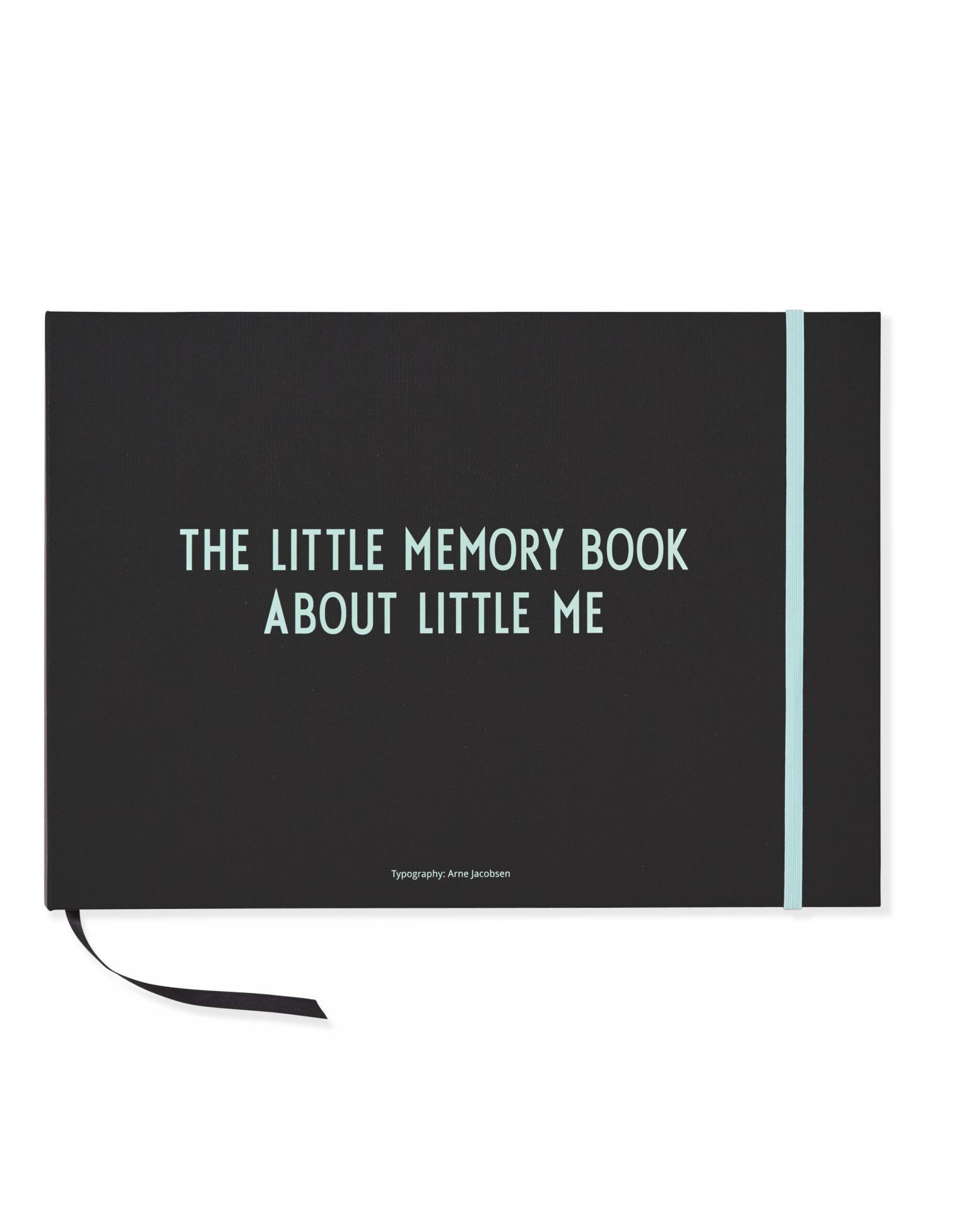 DESIGN LETTERS Deník děťátka The little memory book, zelená barva, černá barva, papír