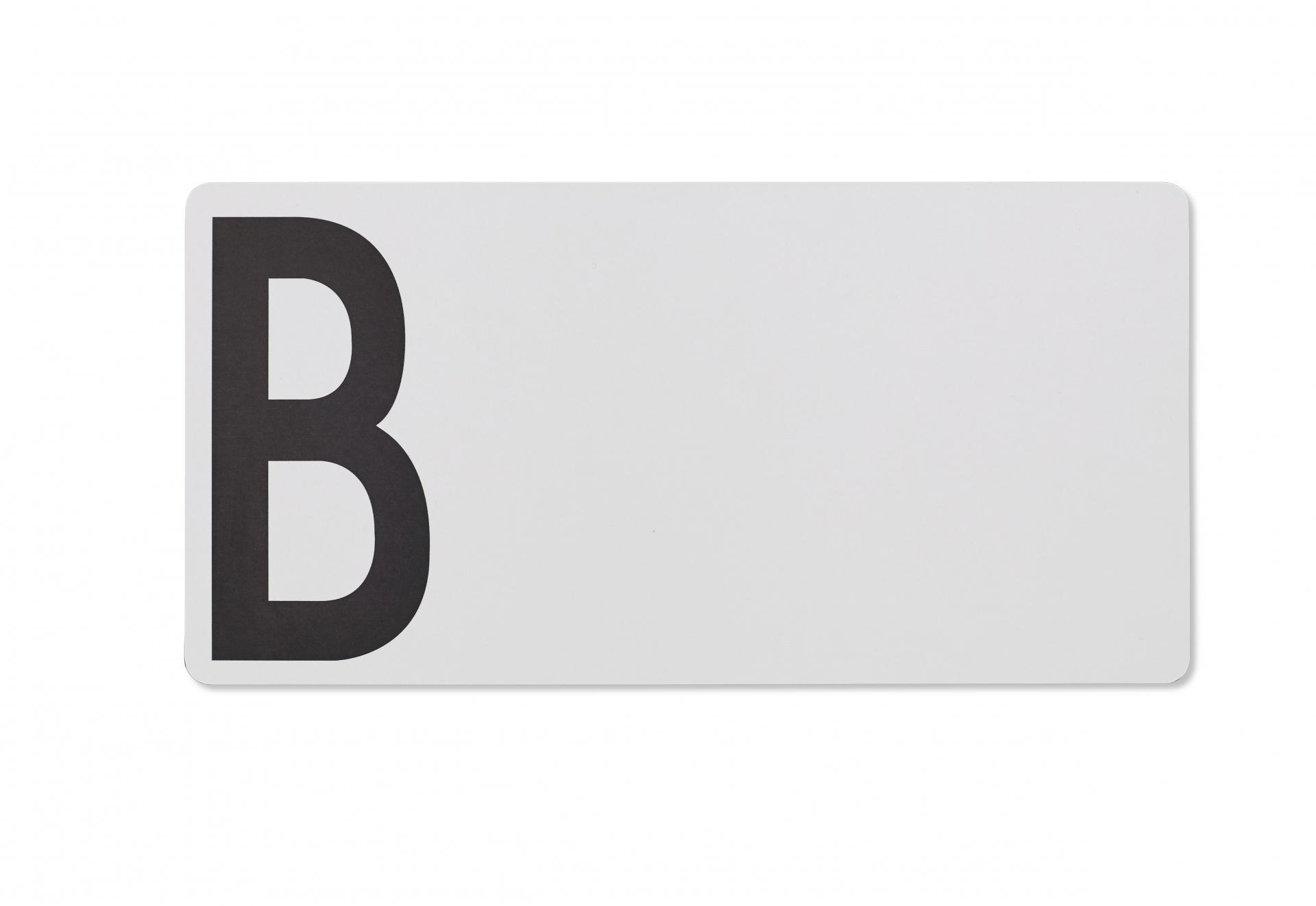 DESIGN LETTERS Dřevěné šedé prkénko B, šedá barva, dřevo