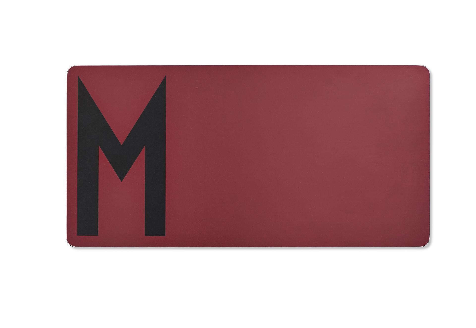 DESIGN LETTERS Dřevěné prkénko M, červená barva, dřevo