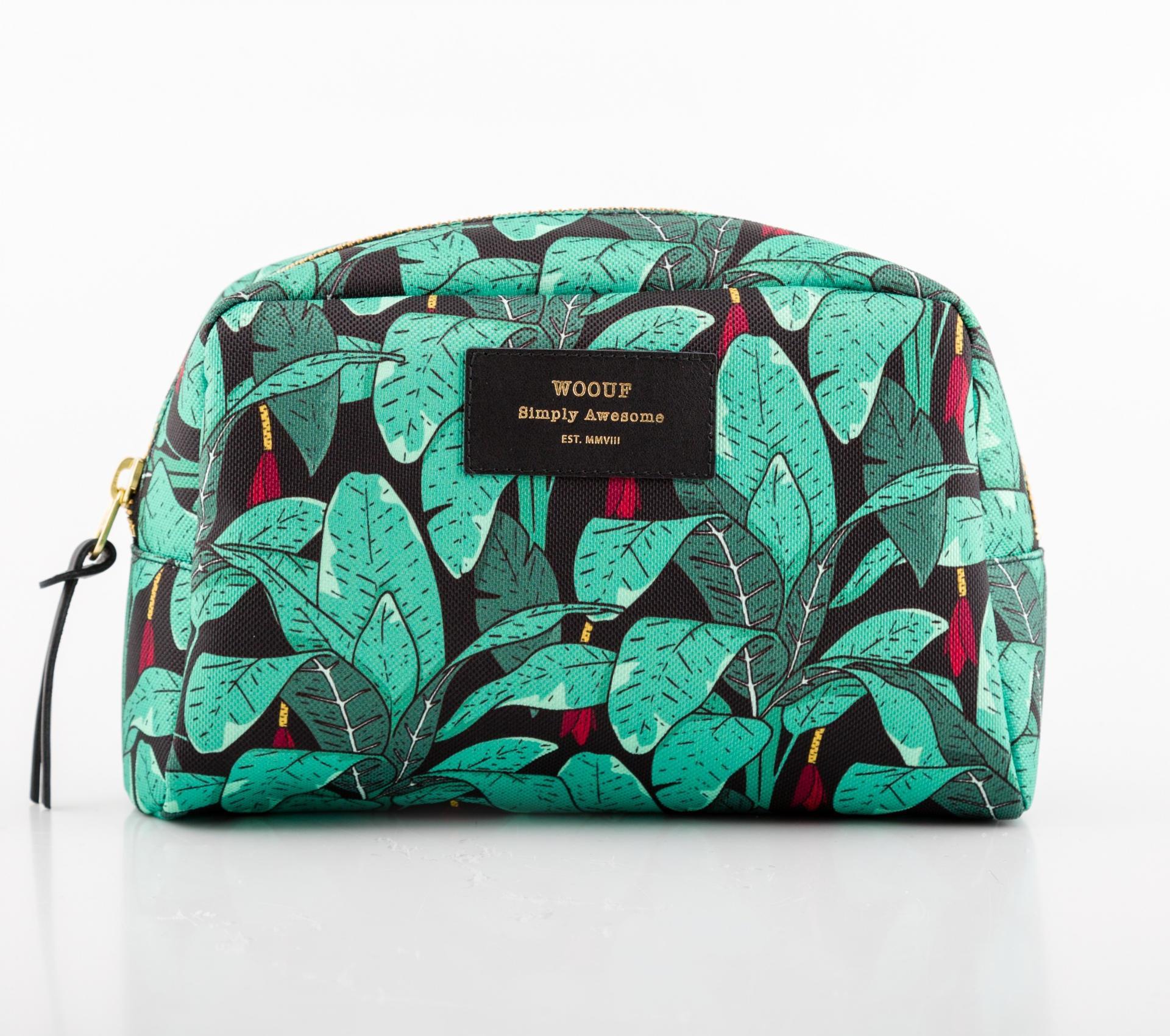 Woouf! Kosmetická taška Jungle, zelená barva, textil