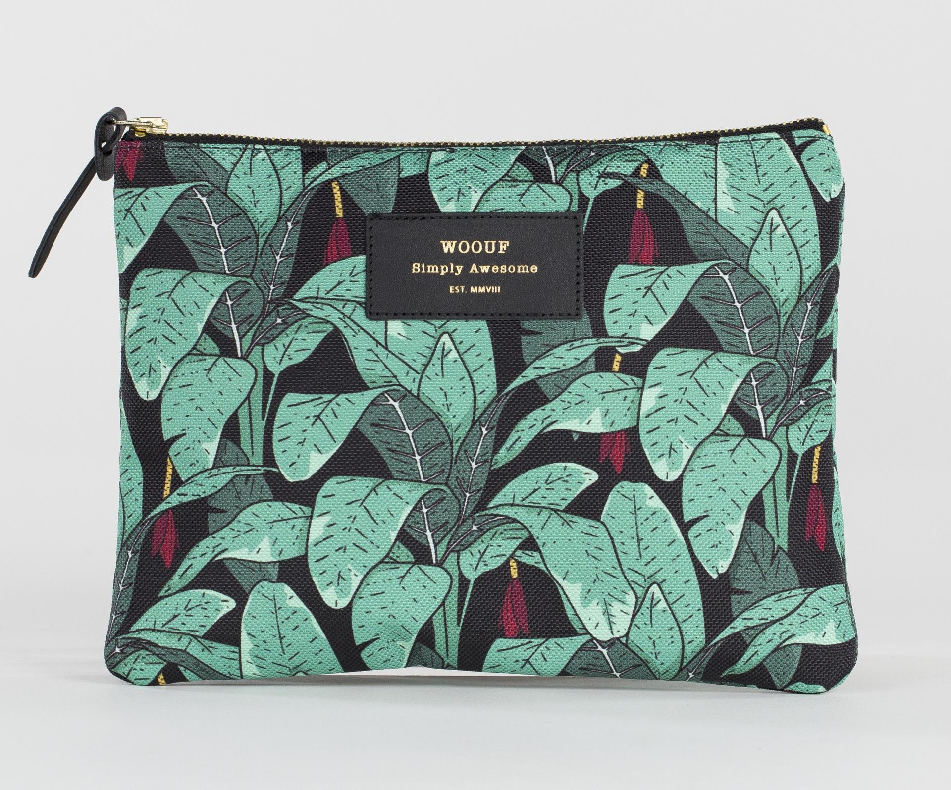 Woouf! Taštička Jungle, zelená barva, textil
