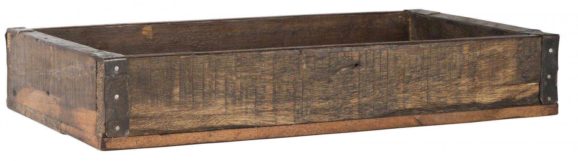 IB LAURSEN Box z recyklovaného dřeva, hnědá barva, dřevo