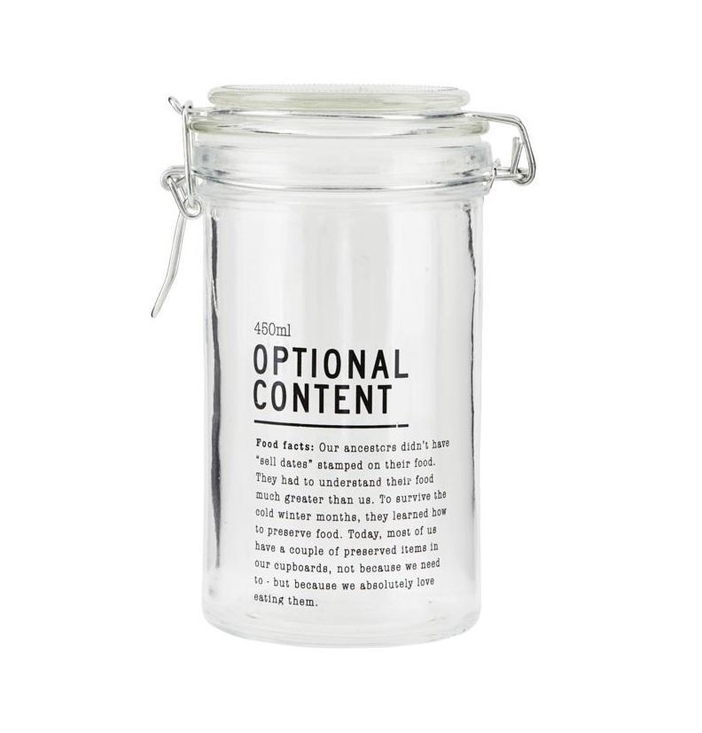 House Doctor Skleněná dóza Optional Content 450 ml