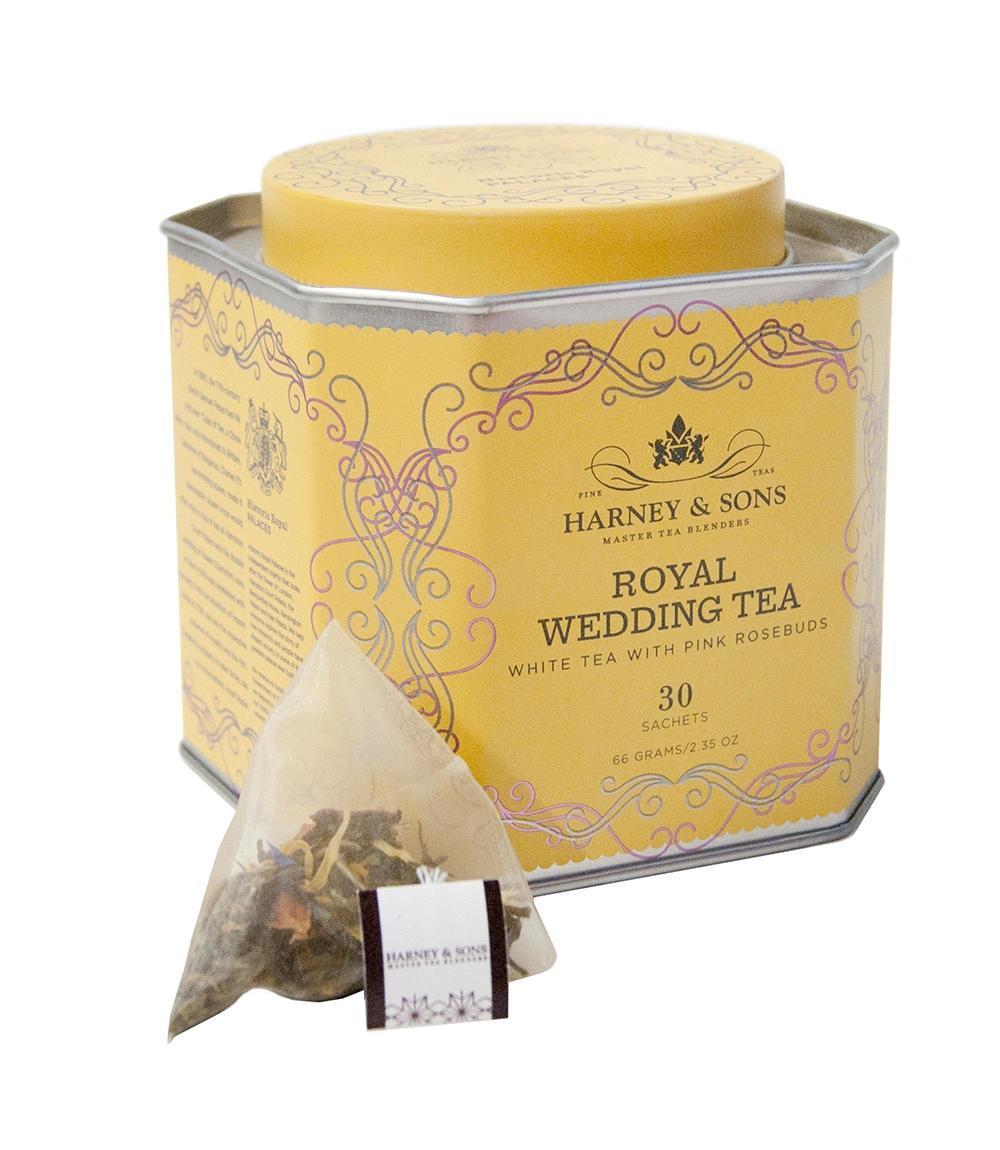 HARNEY & SONS Bílý čaj Royal Wedding, žlutá barva, kov