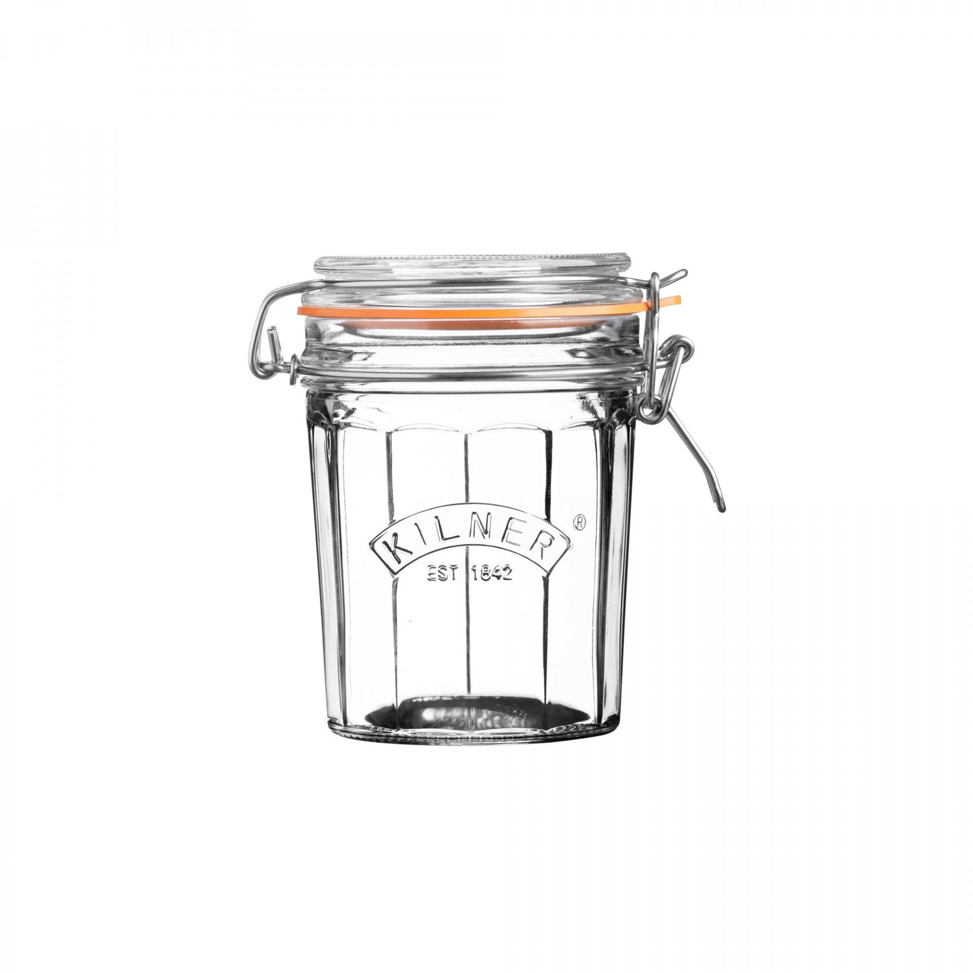 KILNER Kulatá zavařovací sklenice s klipem 450 ml