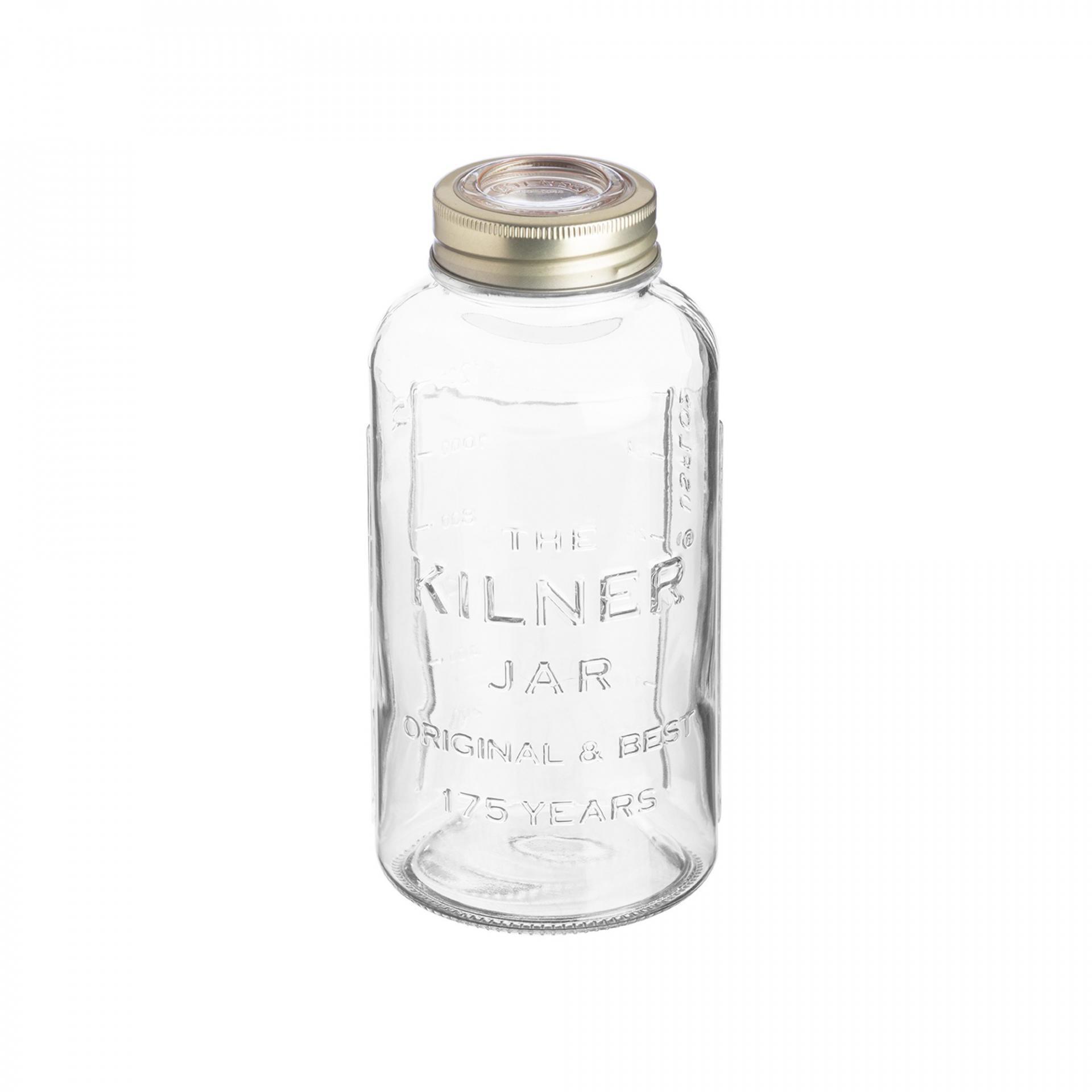 KILNER Kulatá zavařovací sklenice 0,75 l, čirá barva, sklo